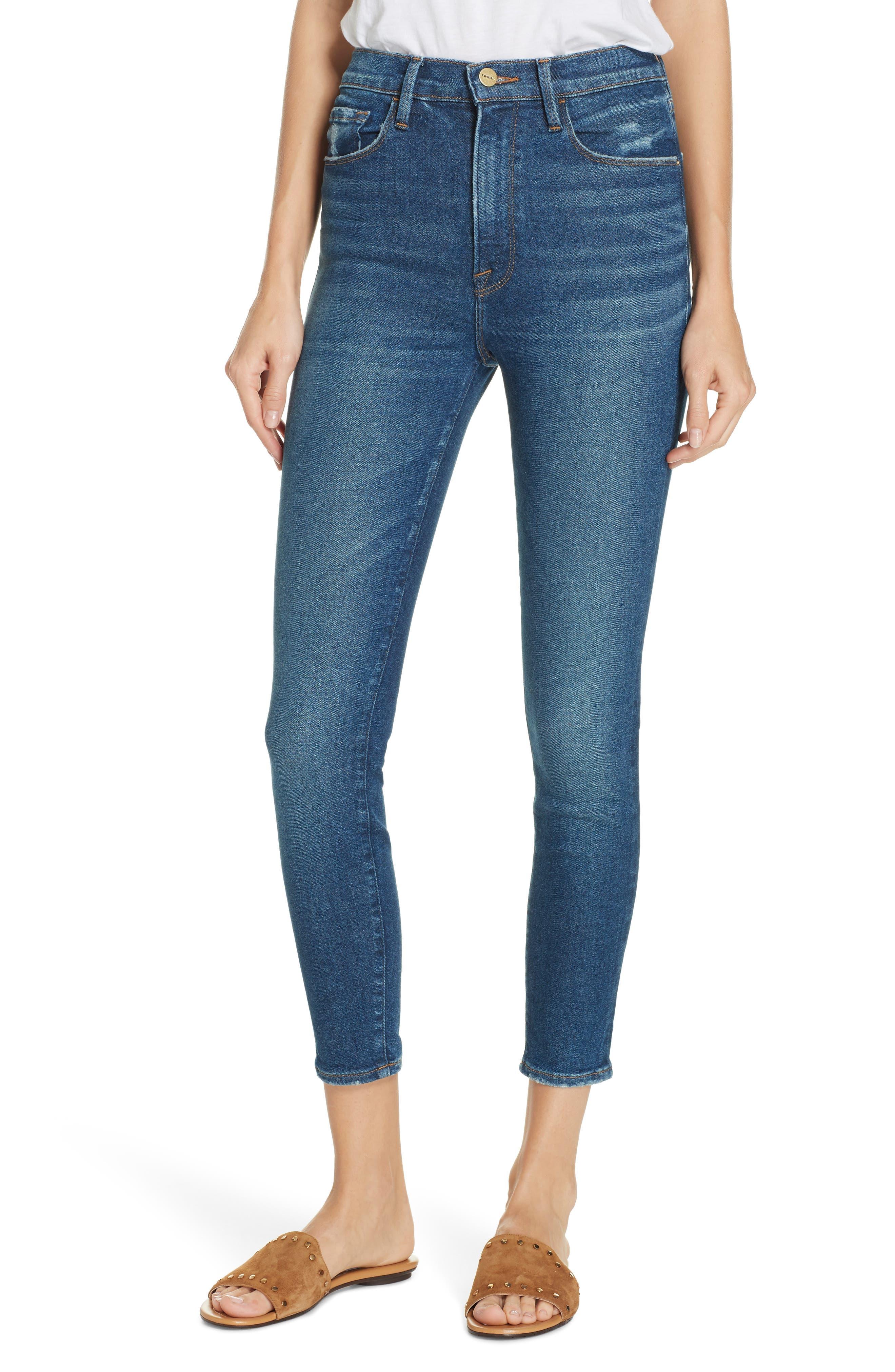 Ali High Rise Cigarette Jeans - Blue Size 31