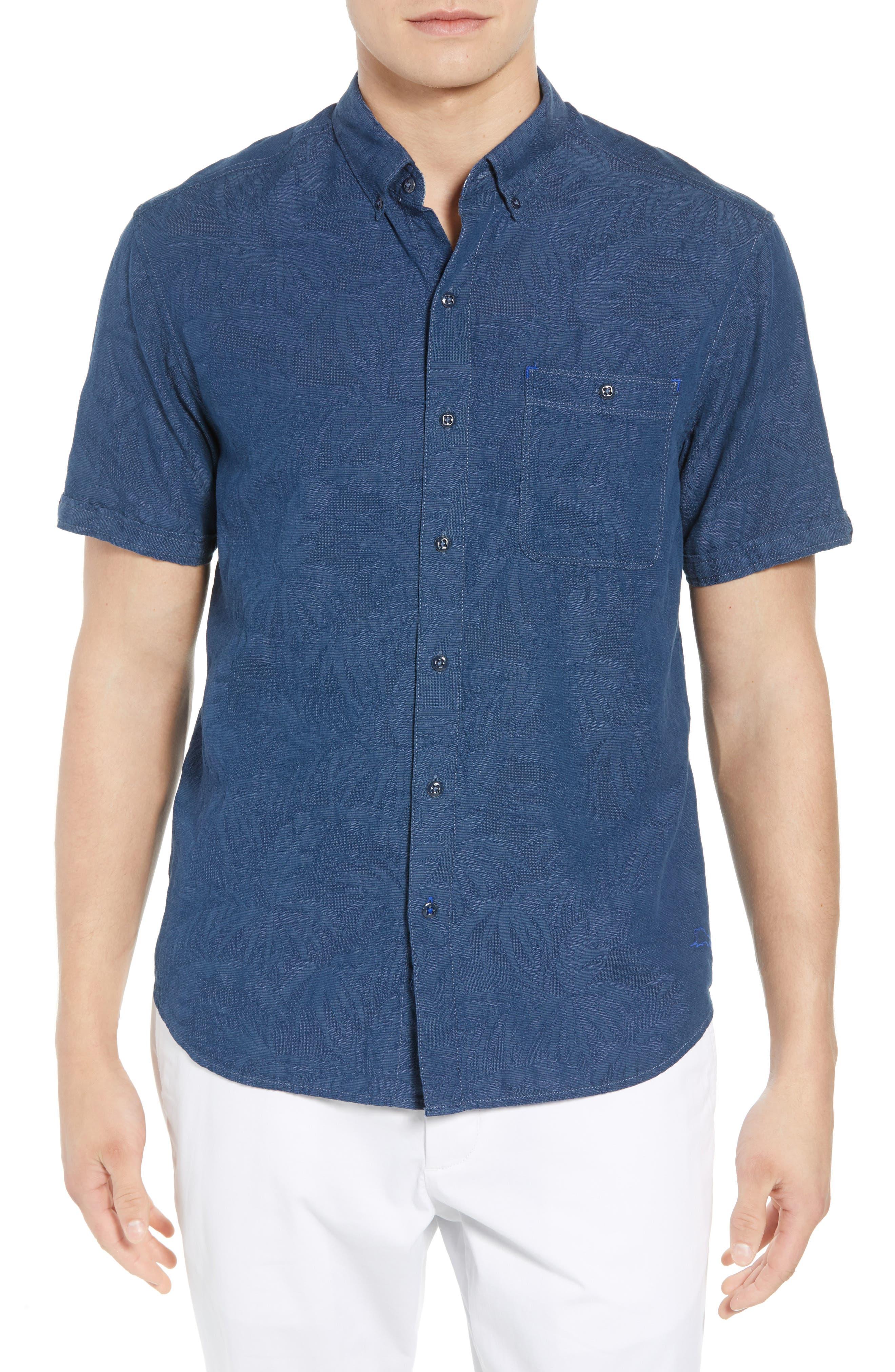Desert Fronds Sport Shirt,                         Main,                         color, 402