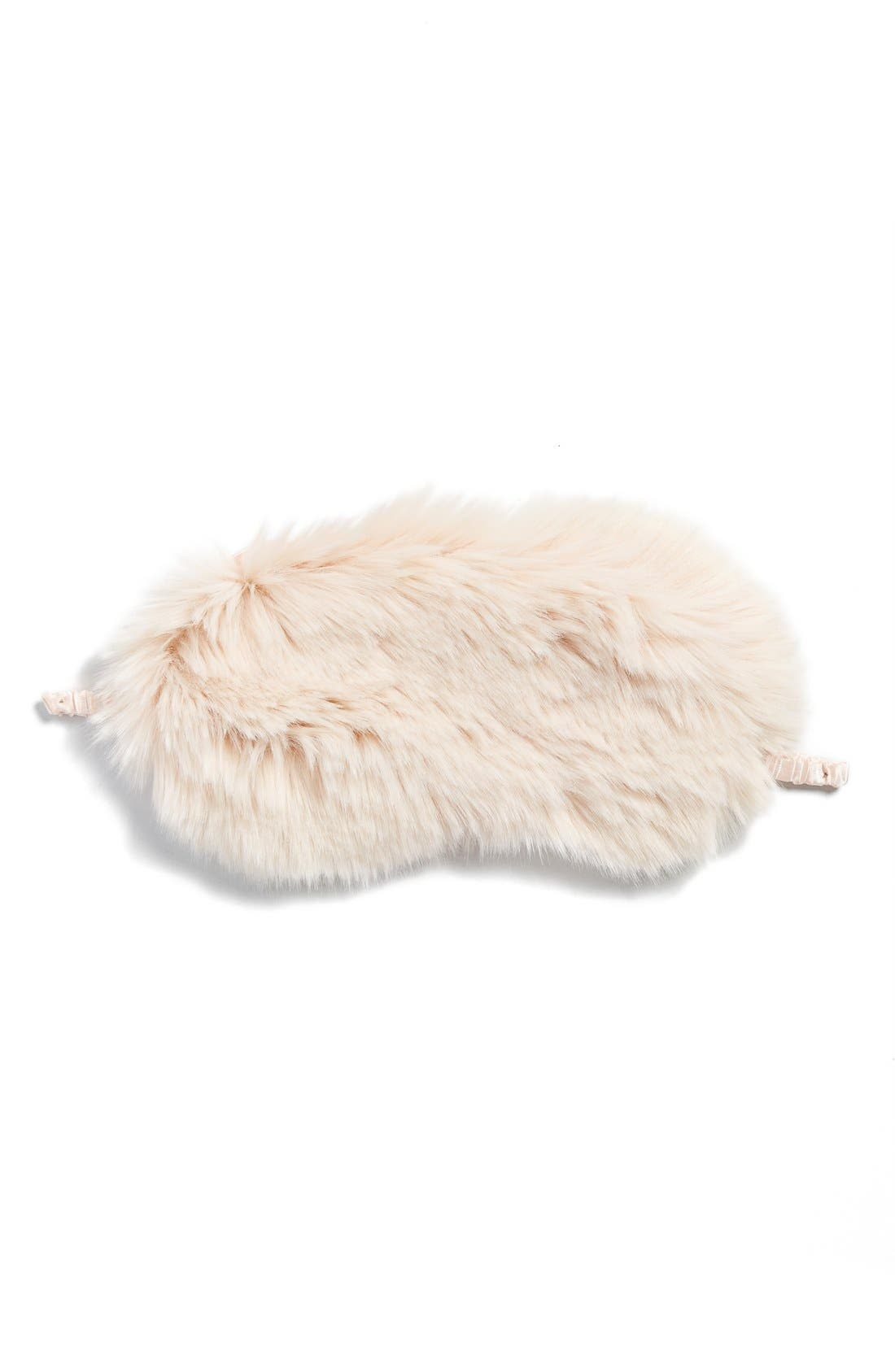 Nordstrom Faux Fur Eye Mask,                             Main thumbnail 3, color,