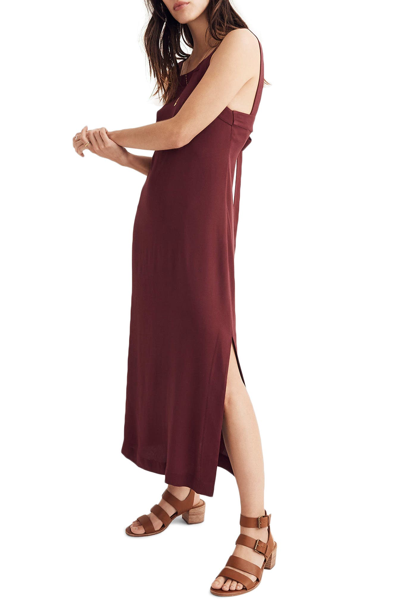Apron Tie Back Dress,                             Alternate thumbnail 2, color,