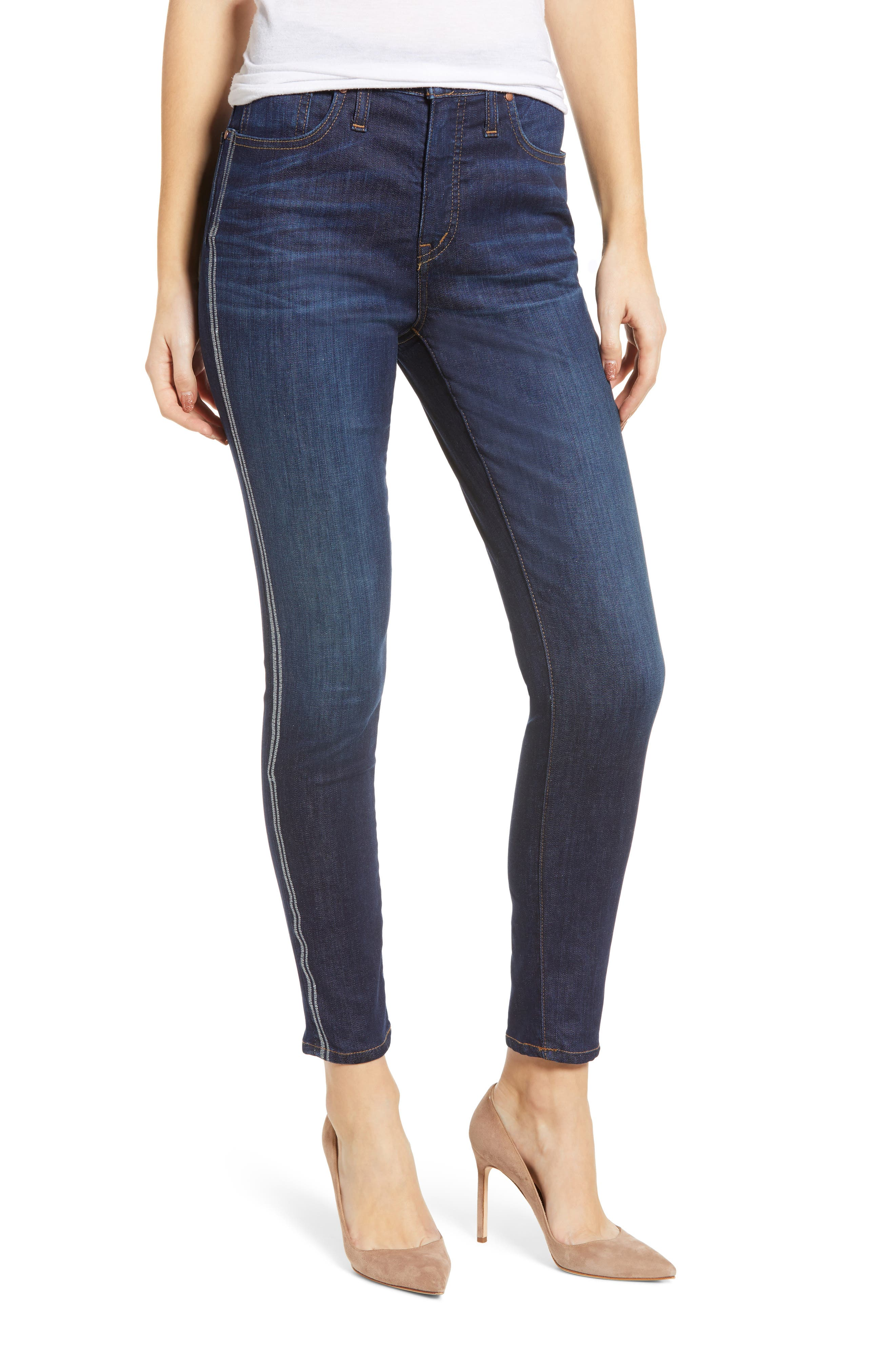 Sierra High Waist Ankle Skinny Jeans, Main, color, FRANCIS