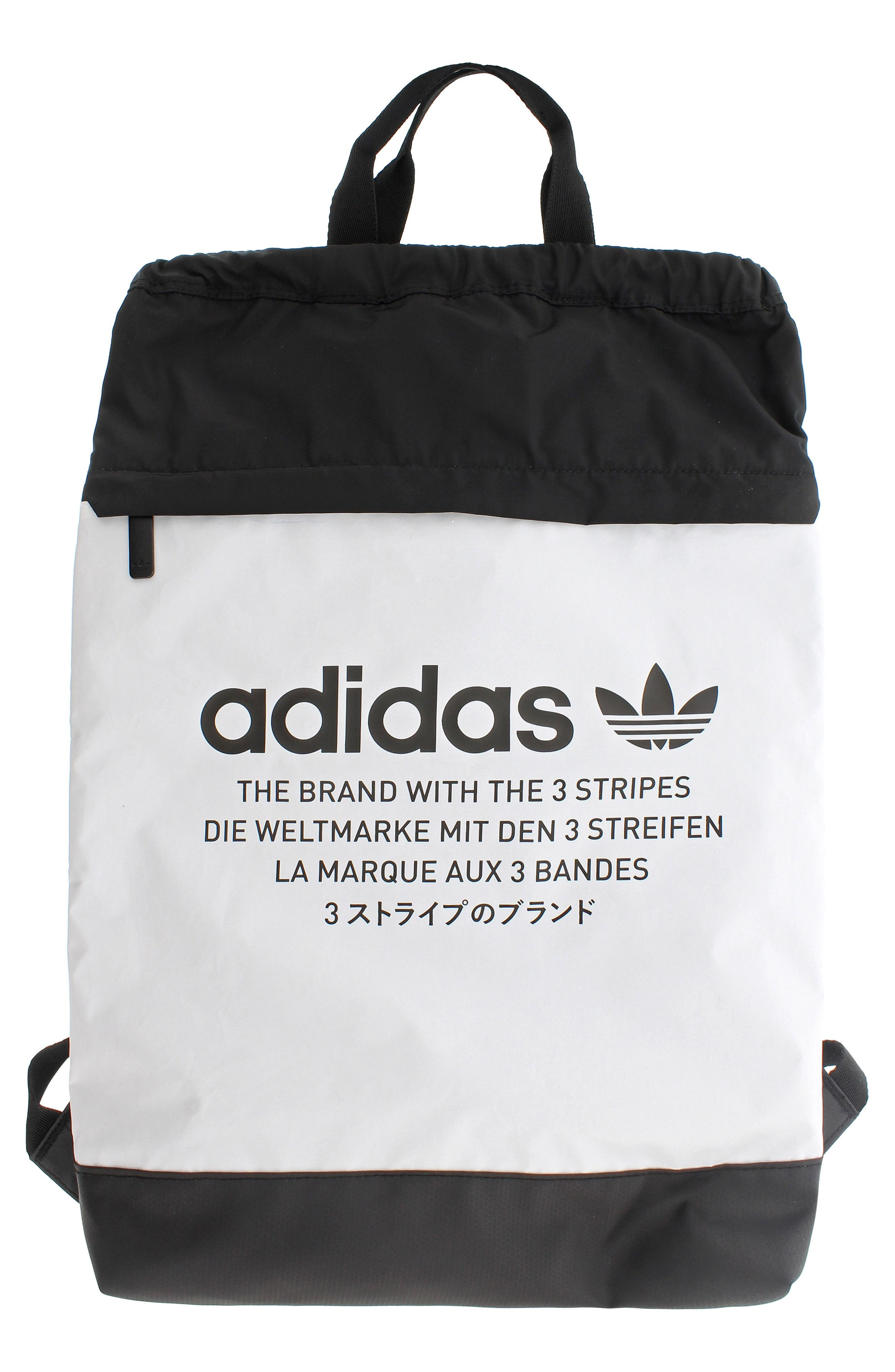 NMD Sack Pack,                         Main,                         color, NEO WHITE/ BLACK