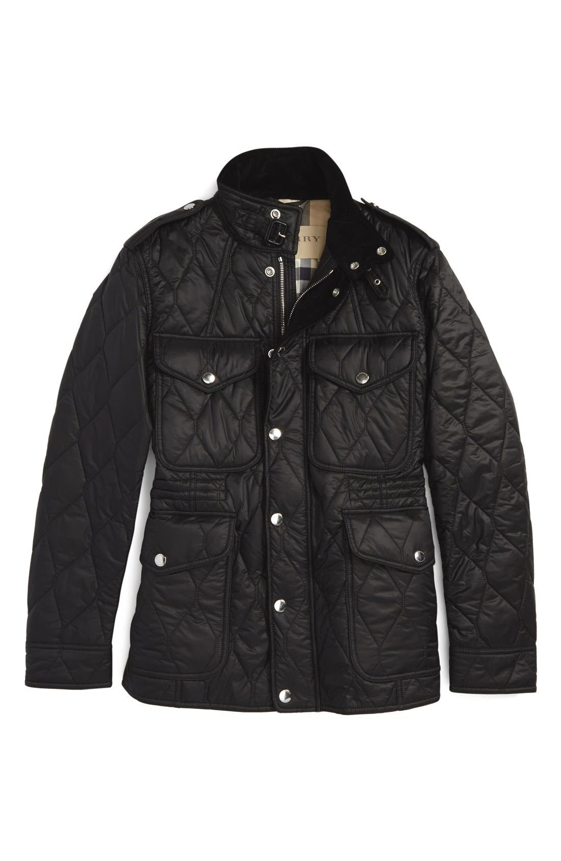 Brit 'Garrington' Quilted Field Jacket,                             Alternate thumbnail 6, color,                             001