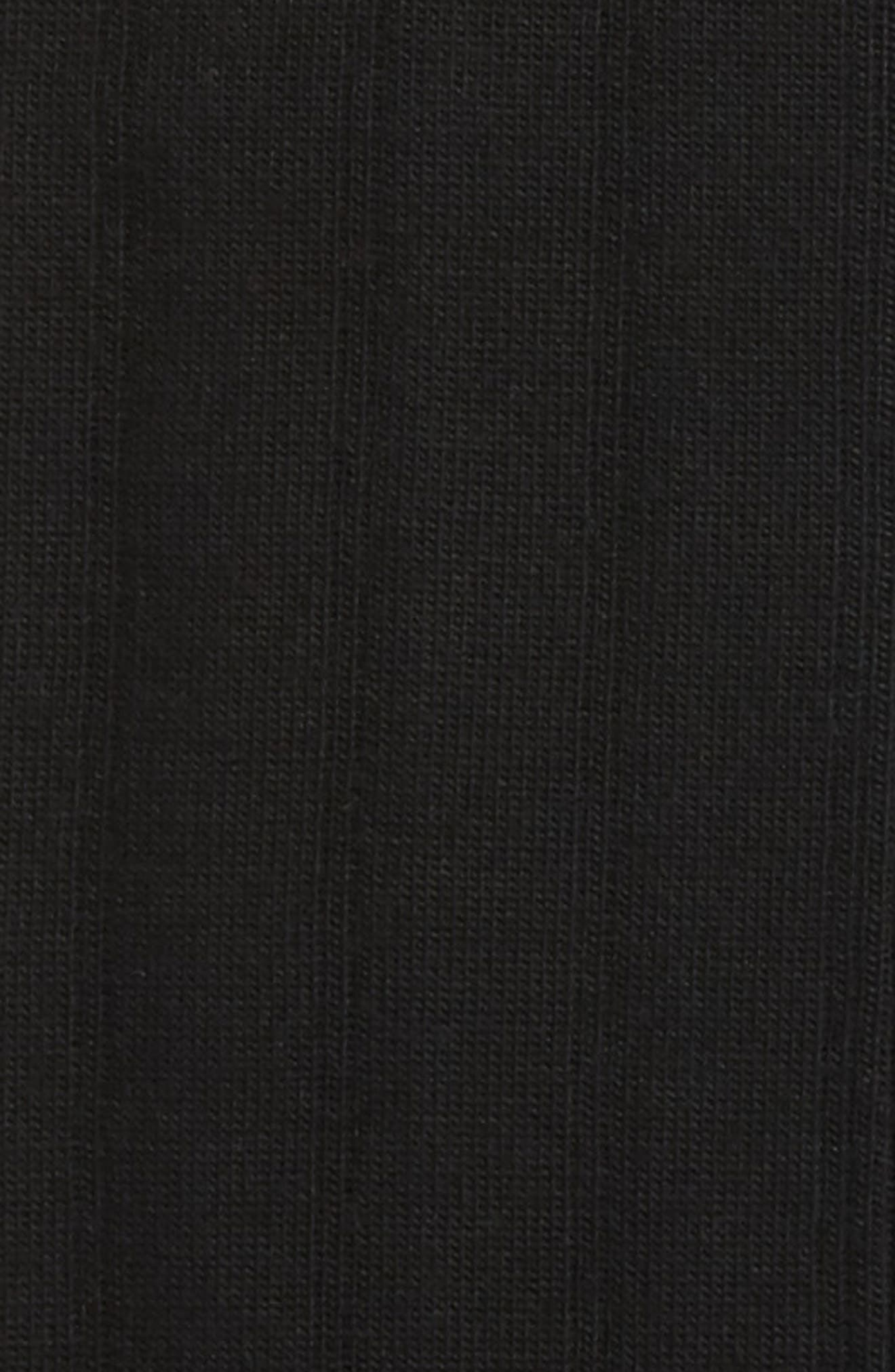 Nordstrom Mens Shop Over the Calf Wool Socks,                             Alternate thumbnail 3, color,                             BLACK