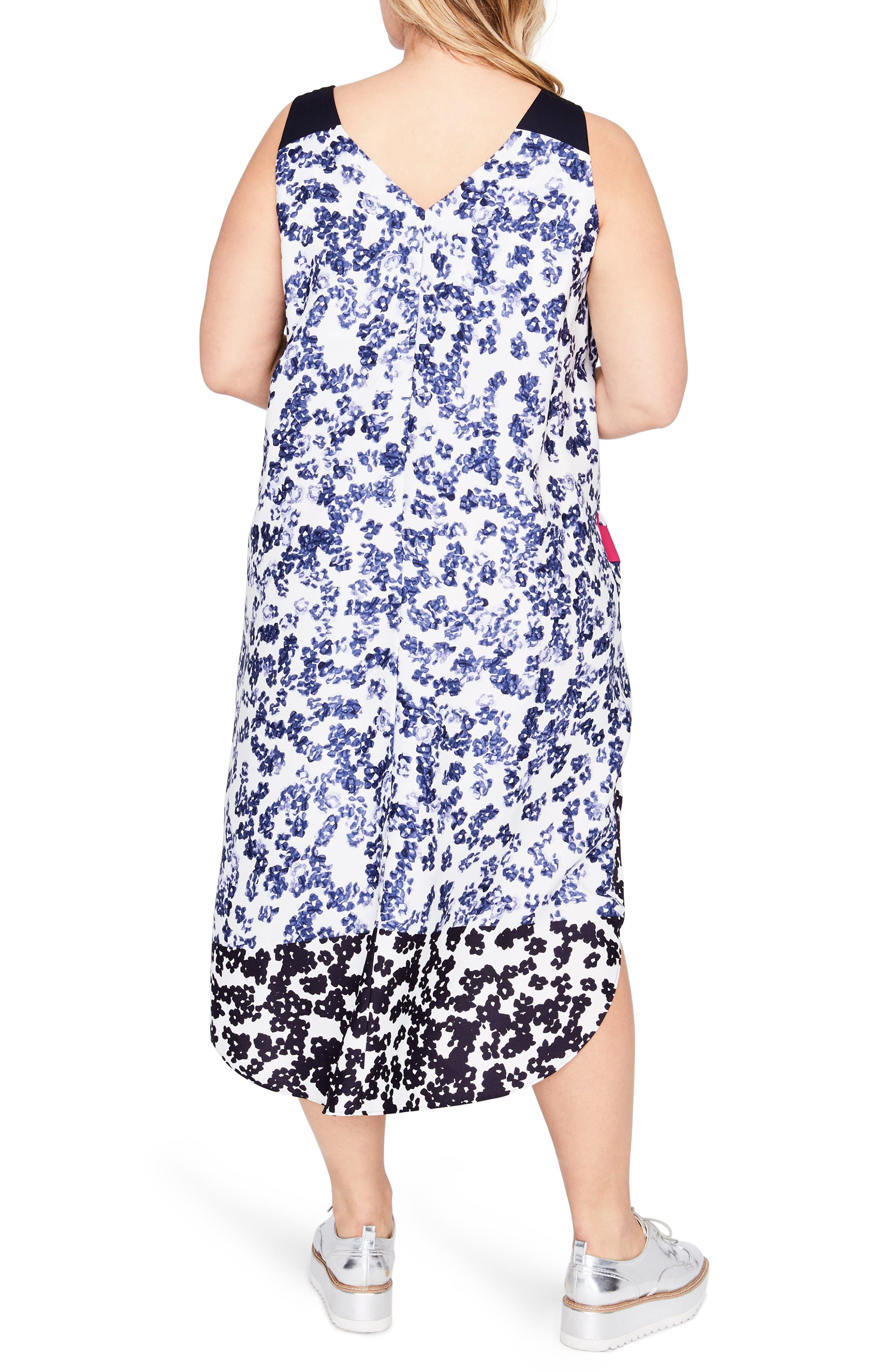 Mixed Floral Scarf Dress,                             Alternate thumbnail 2, color,