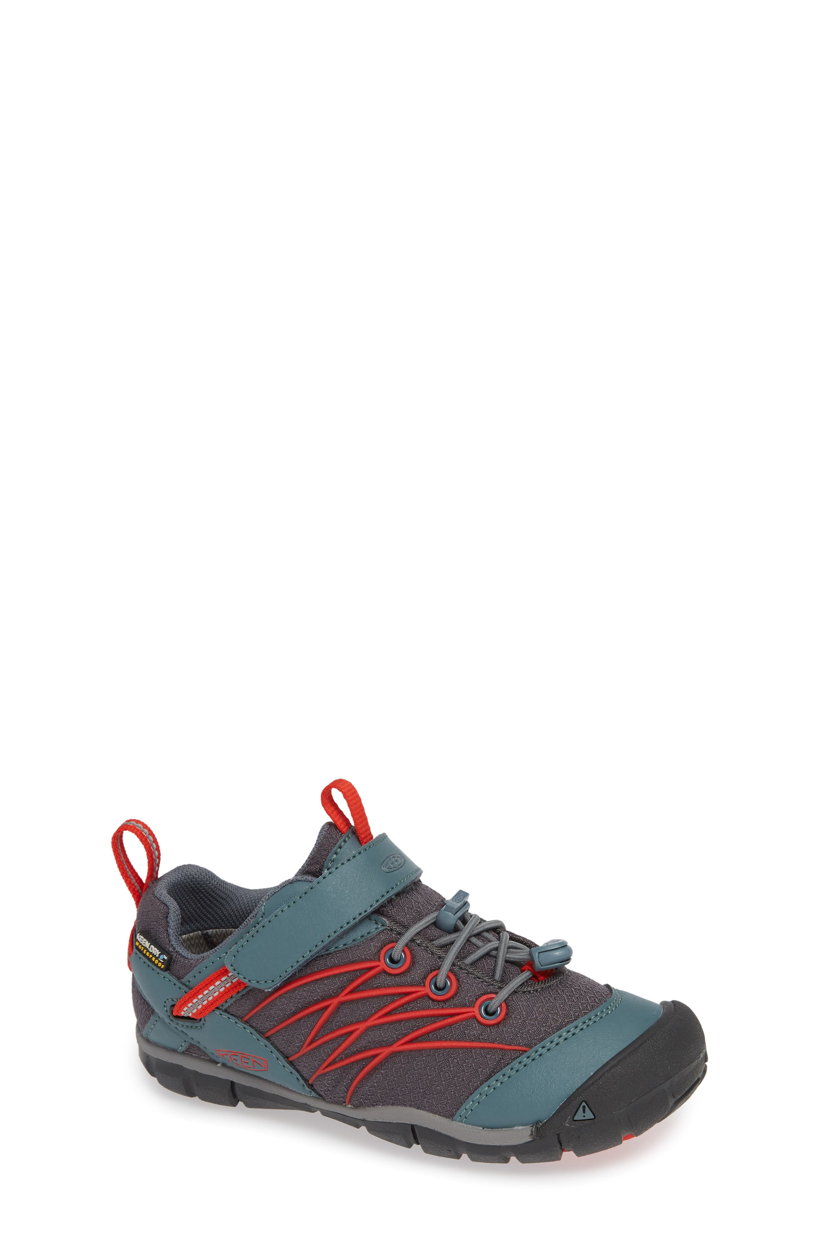 'Chandler CNX' Water Repellent Sneaker,                         Main,                         color, STORMY WEATHER/ FIRE RED