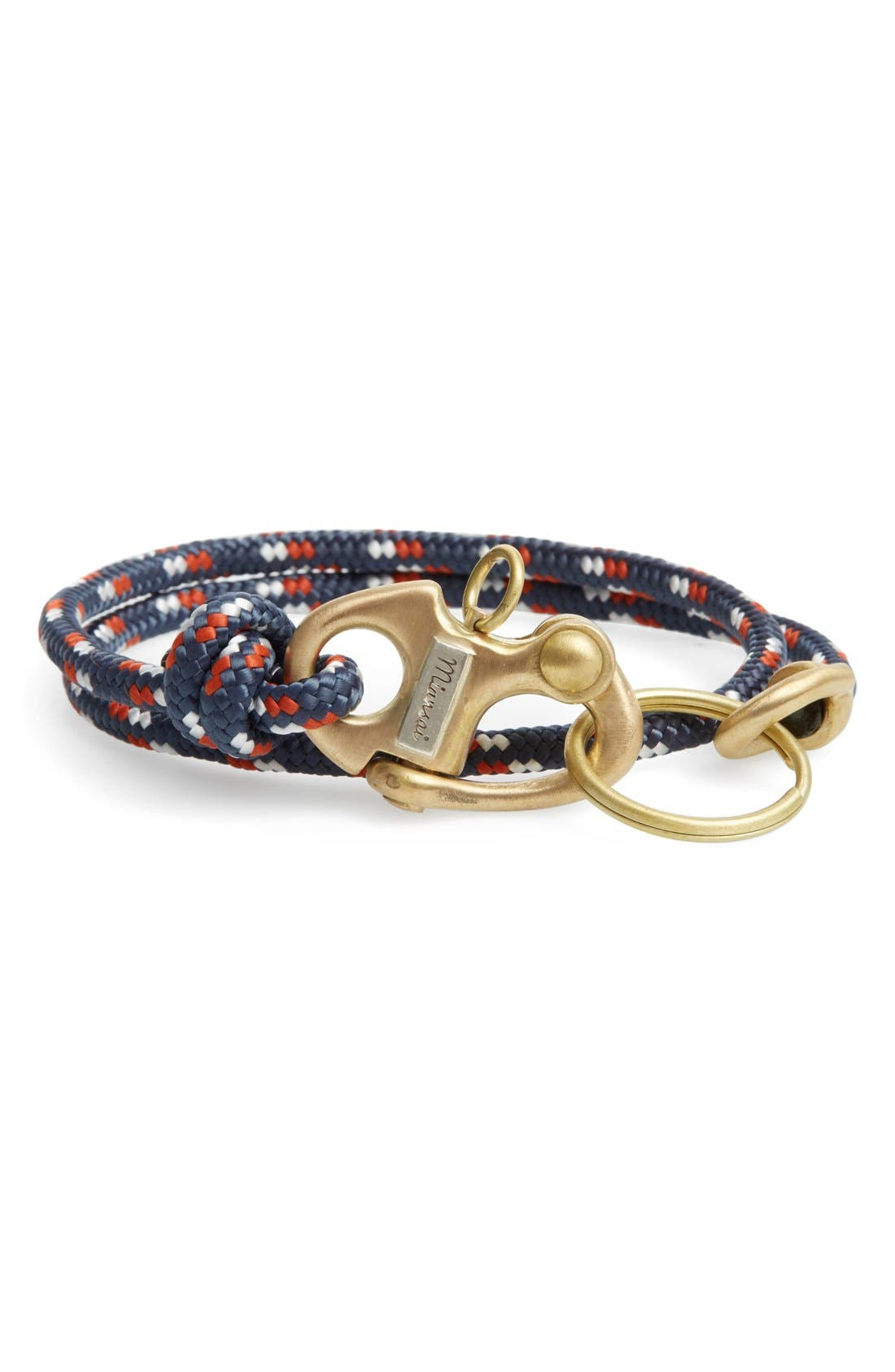 'Picton' Rope Keychain,                             Main thumbnail 1, color,                             412