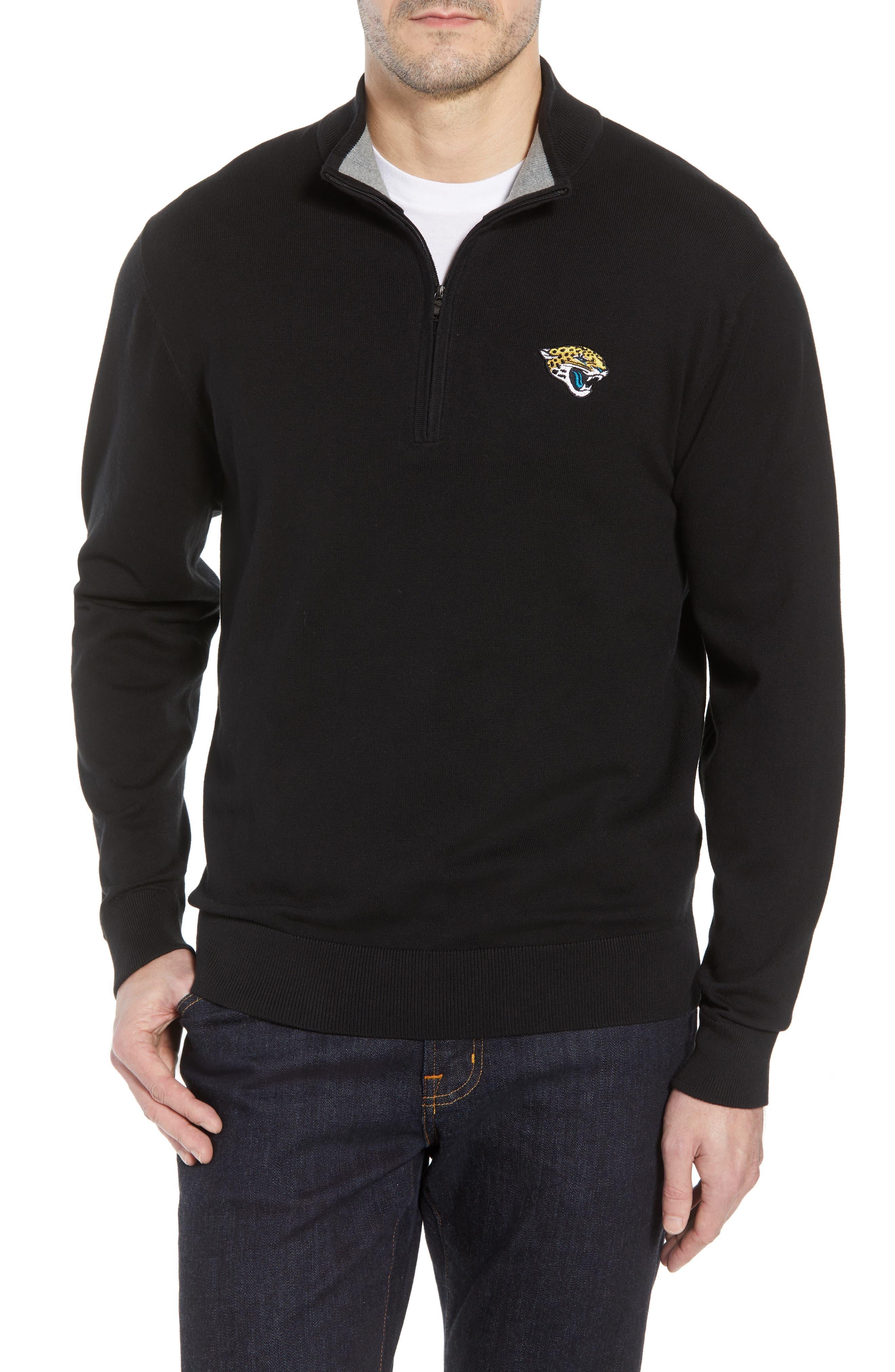 Jacksonville Jaguars - Lakemont Regular Fit Quarter Zip Sweater,                         Main,                         color, BLACK