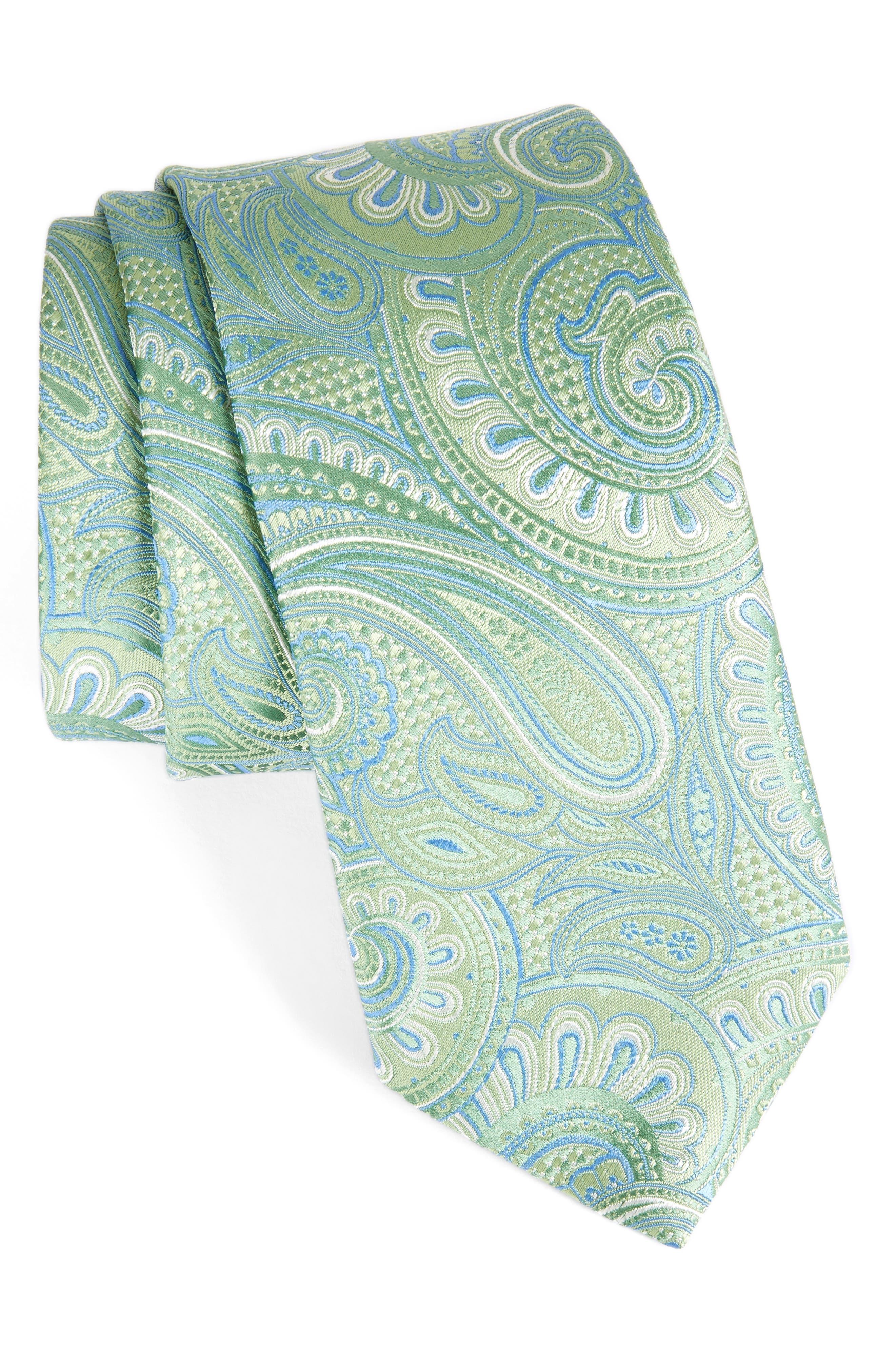 John W. Nordstrom Paisley Silk Tie,                             Main thumbnail 2, color,