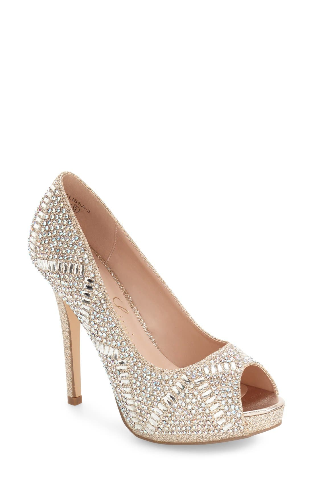 Elissa - 3 Peep Toe Pump,                             Main thumbnail 3, color,