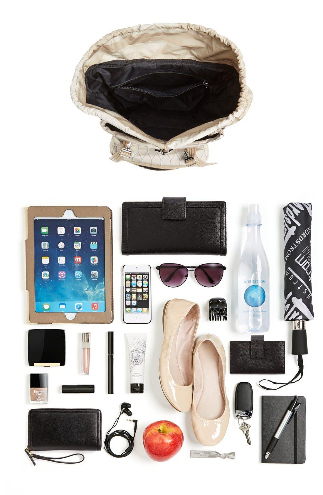 'Multi Icons' Printed Nylon Backpack,                             Alternate thumbnail 3, color,                             250