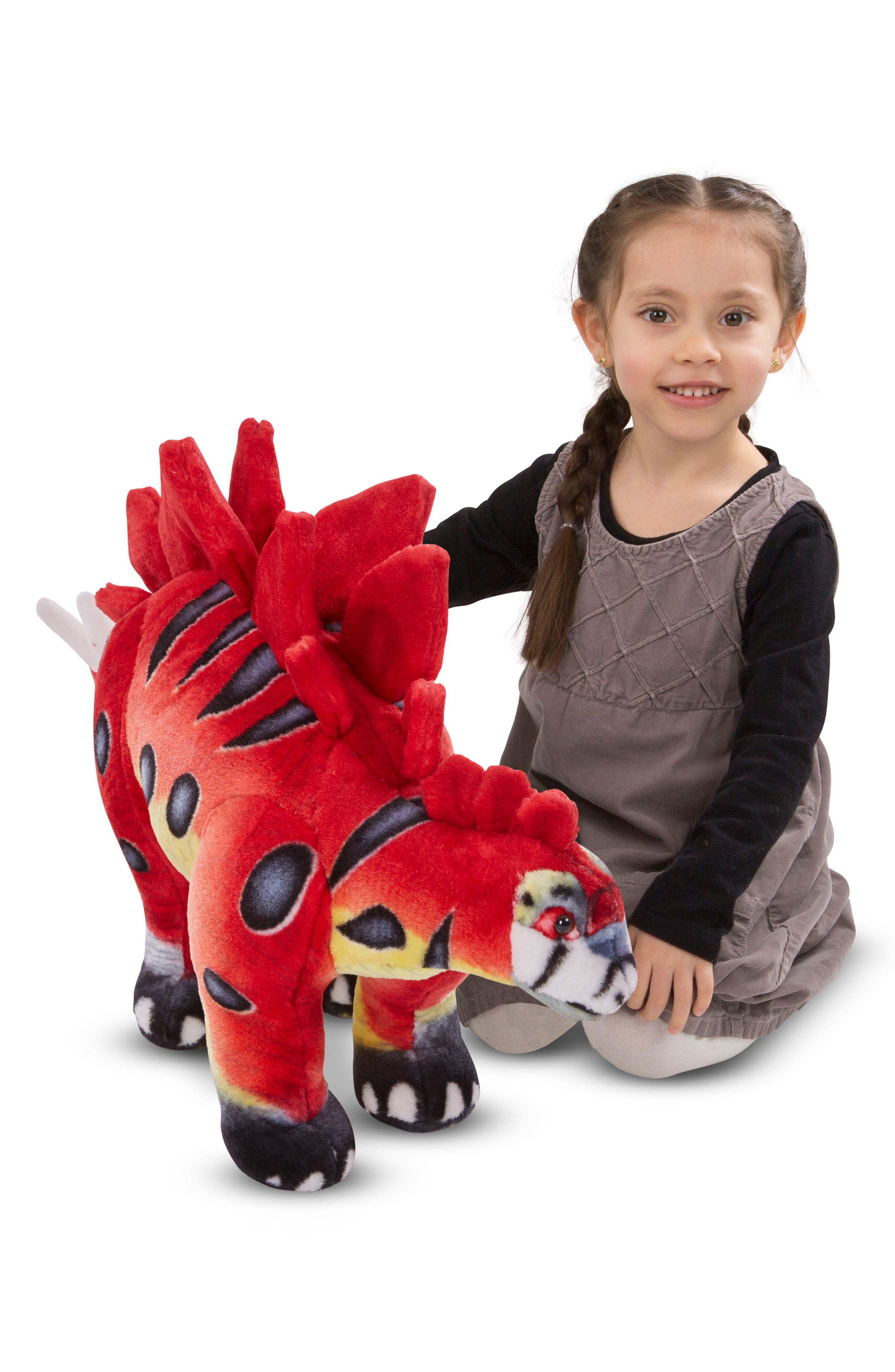 Giant Stegosaurus Plush,                             Alternate thumbnail 2, color,                             RED MULTI