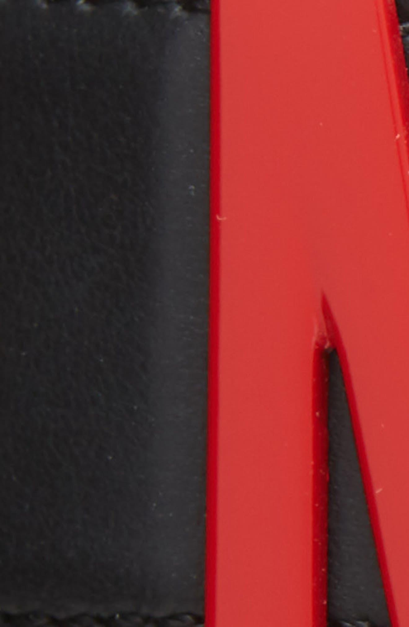MOSCHINO,                             Logo Plaque & Grommet Belt,                             Alternate thumbnail 3, color,                             MULTI