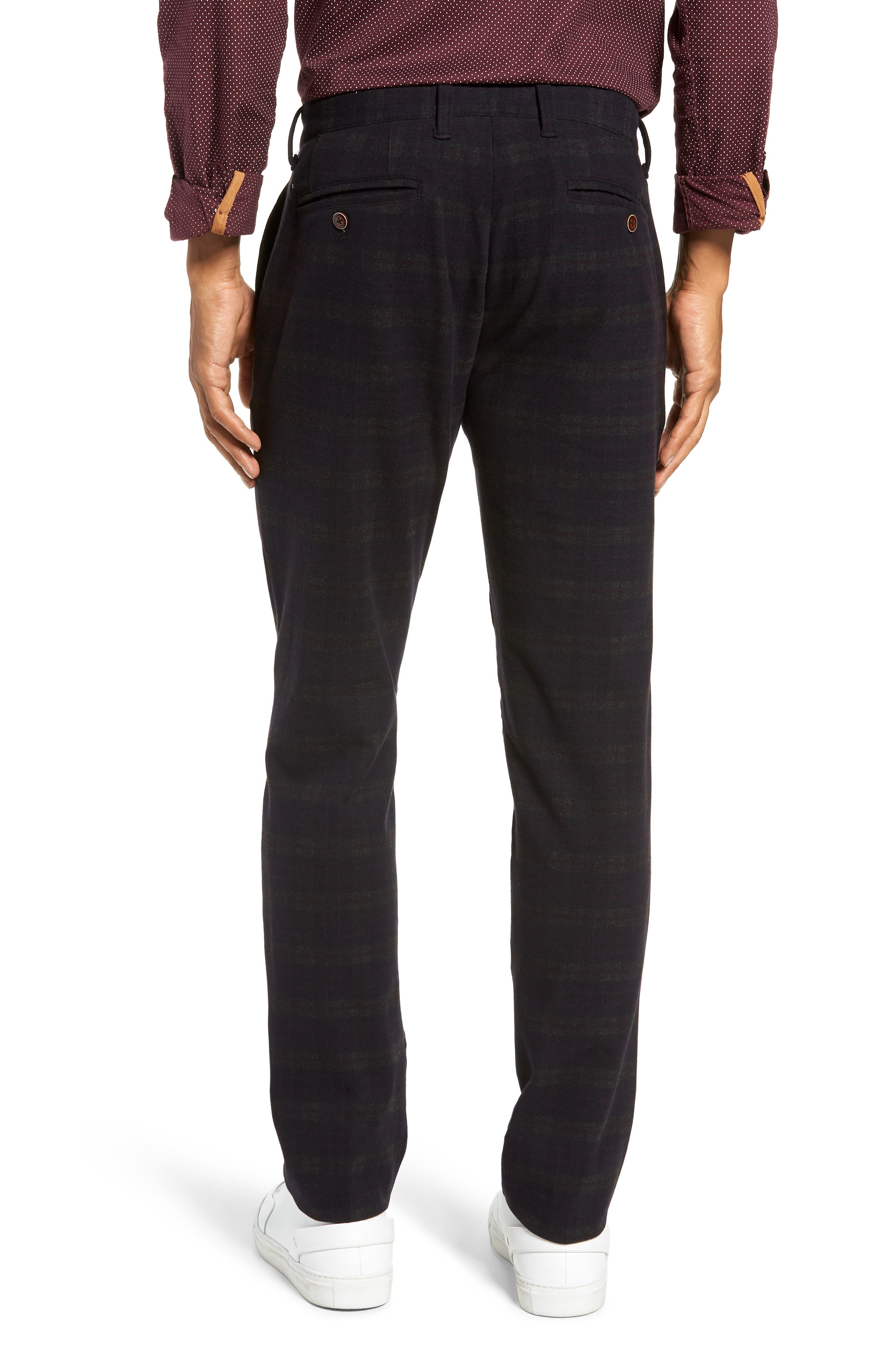 Thomas Straight Leg Chinos,                             Alternate thumbnail 2, color,                             MIDNIGHT/ RED/ CHARCOAL