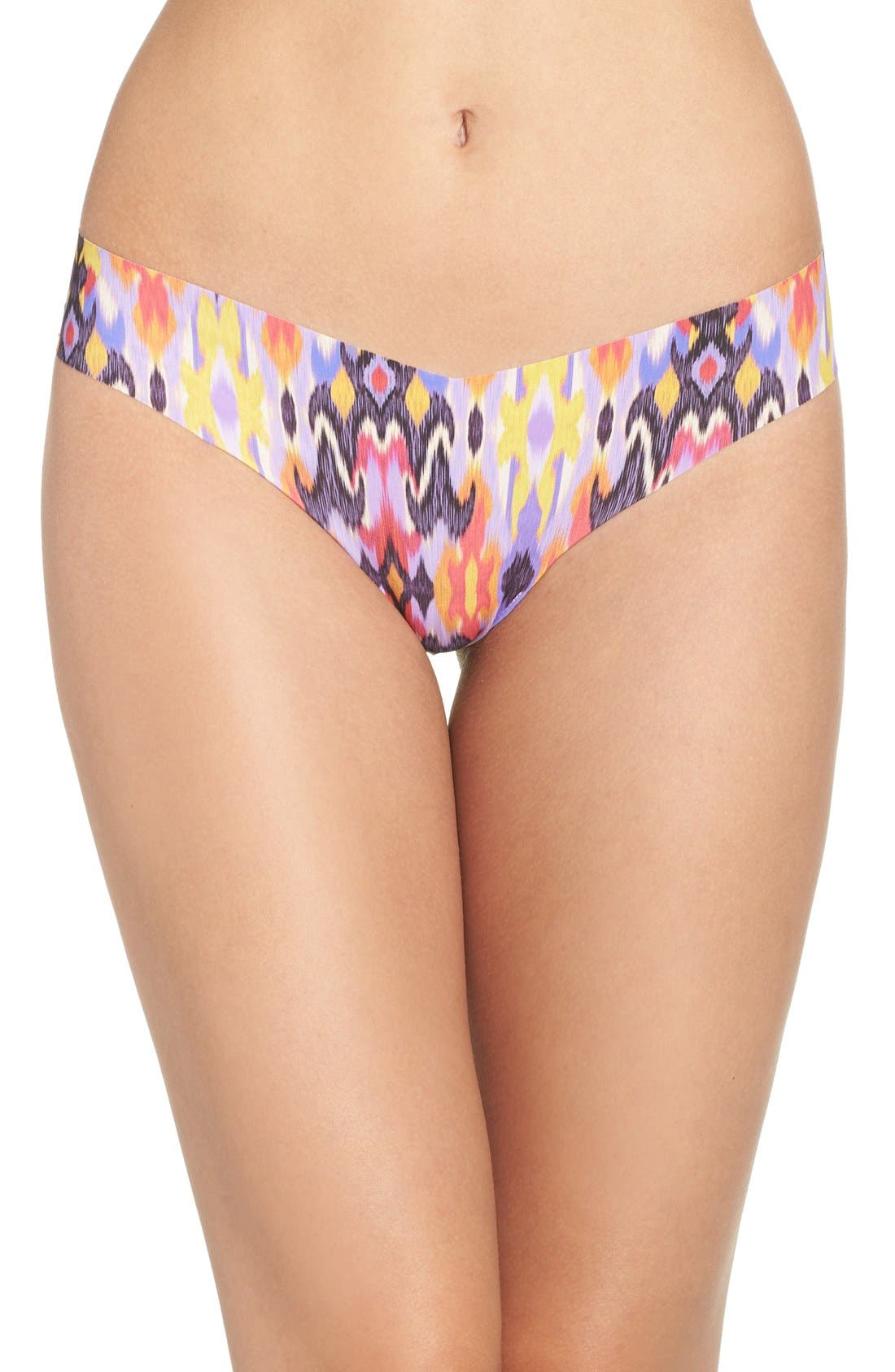 Print Microfiber Thong,                             Main thumbnail 78, color,