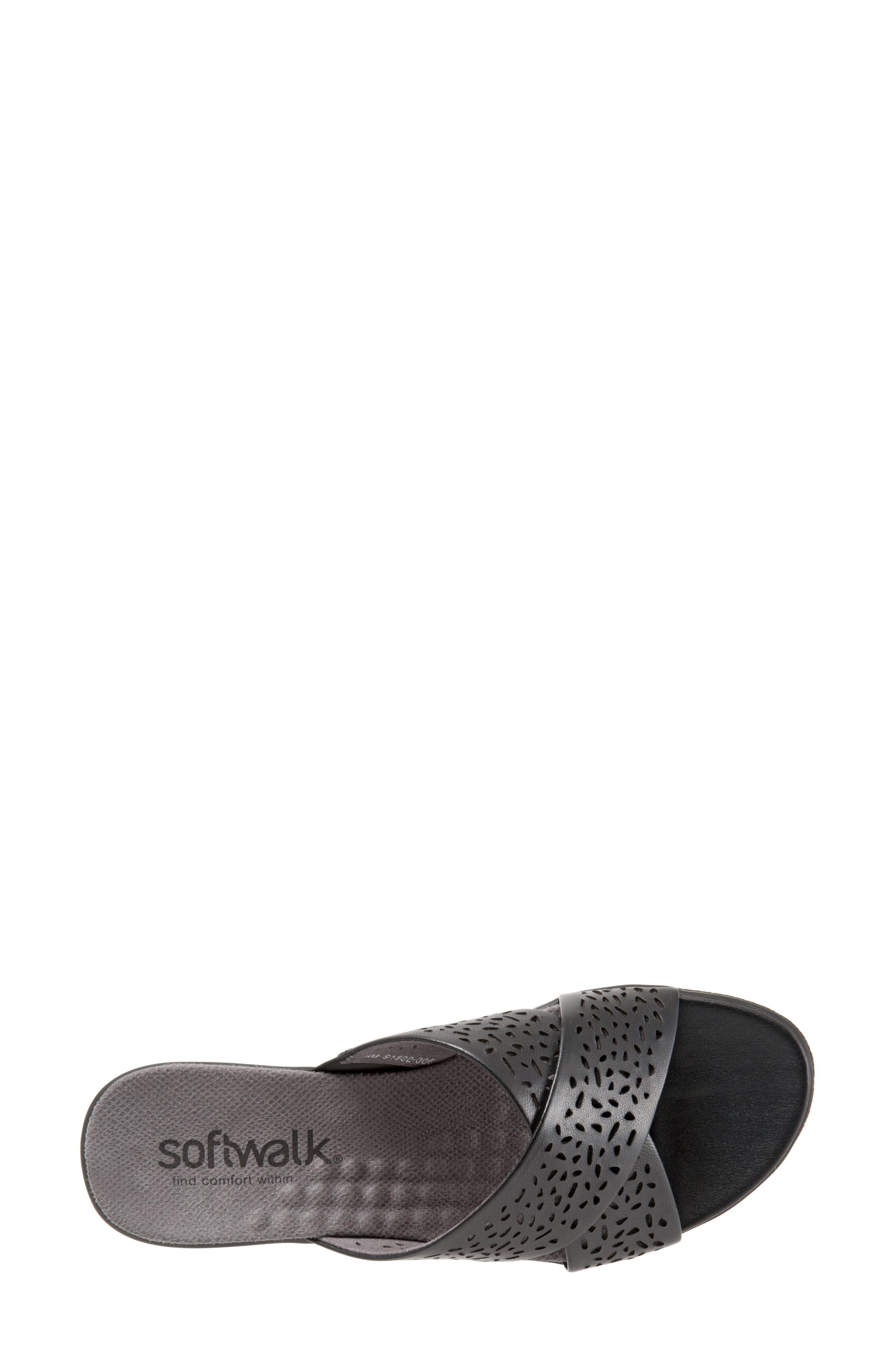 'Tillman' Leather Cross Strap Slide Sandal,                             Alternate thumbnail 5, color,                             006