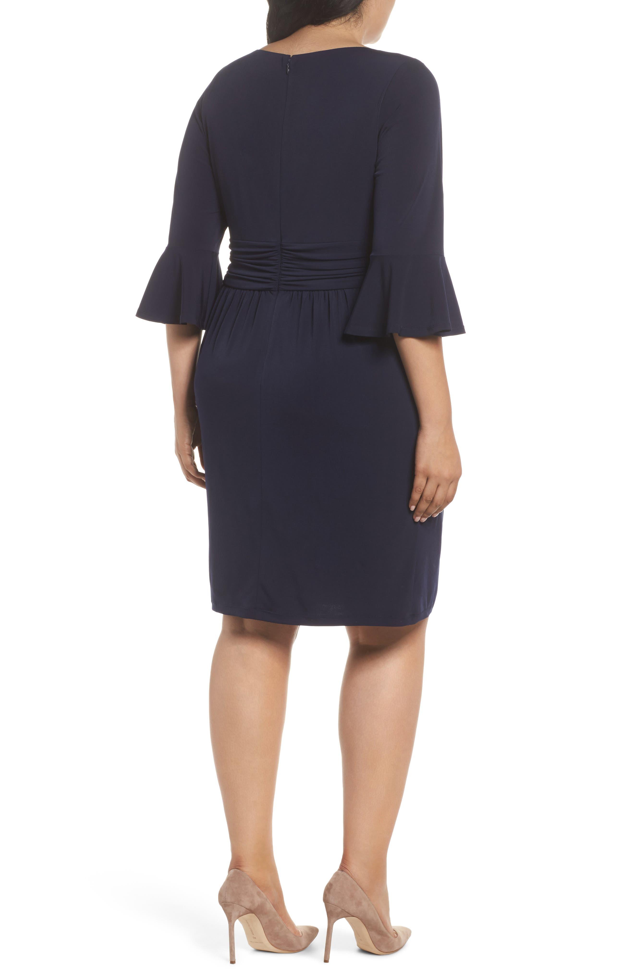 Bell Sleeve Sheath Dress,                             Alternate thumbnail 2, color,                             410