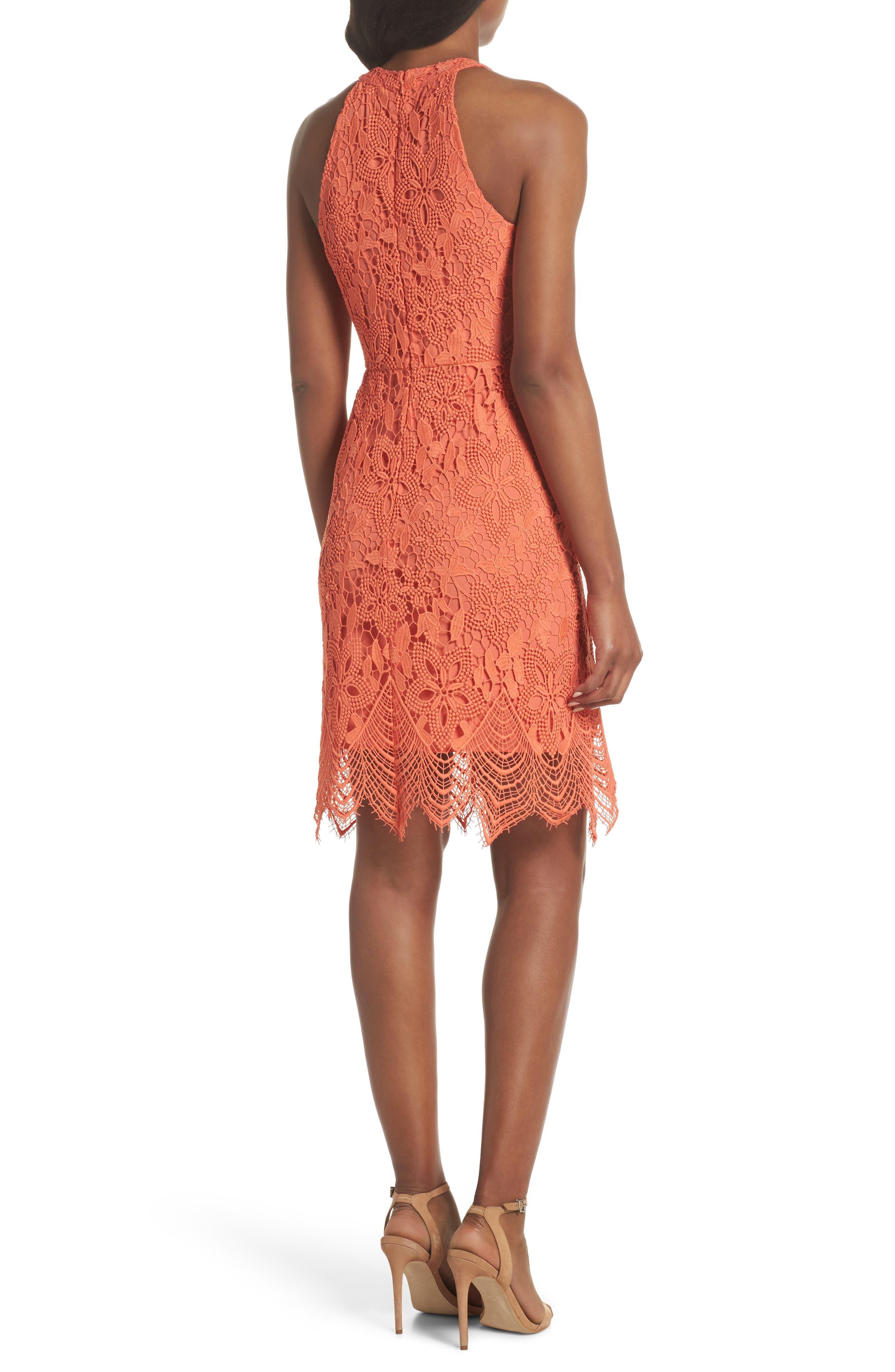 Isla Lace Halter Dress,                             Alternate thumbnail 4, color,