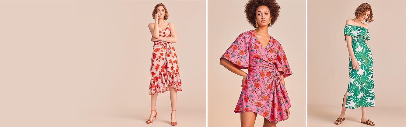 Get into print: women's dresses.