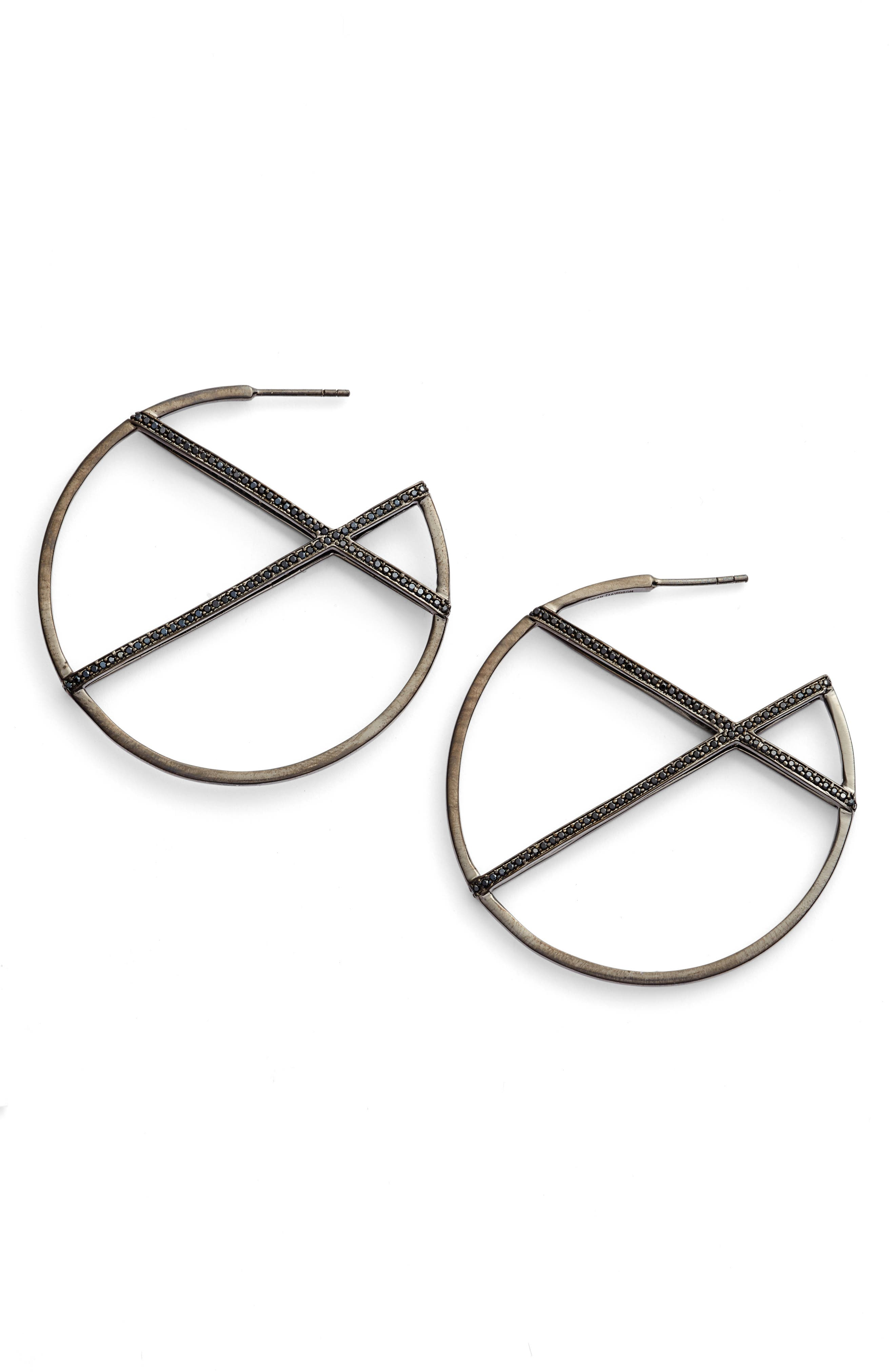 Continuous Hoop Earrings,                         Main,                         color, 001