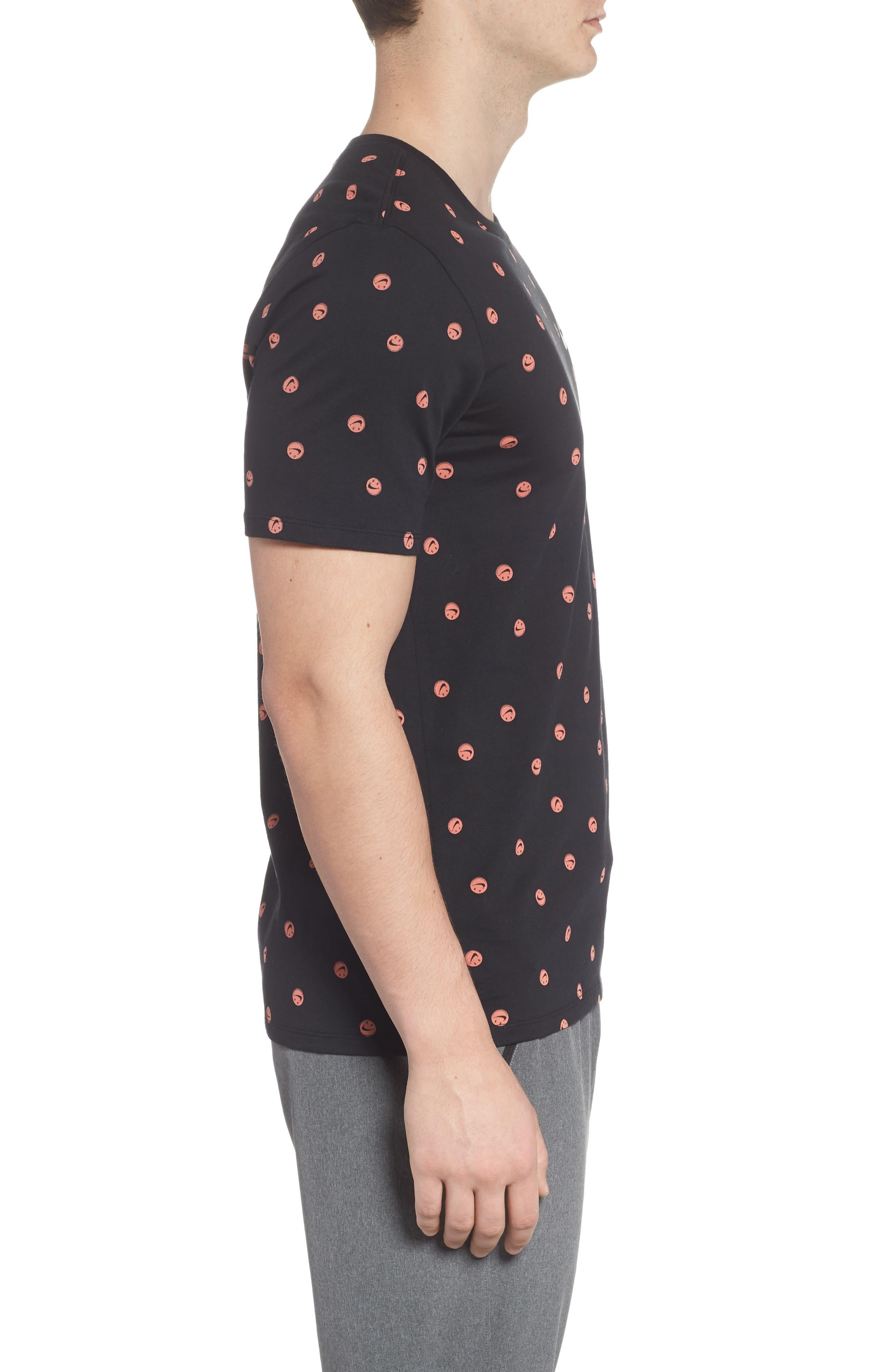 Sportswear Smiley Print T-Shirt,                             Alternate thumbnail 3, color,