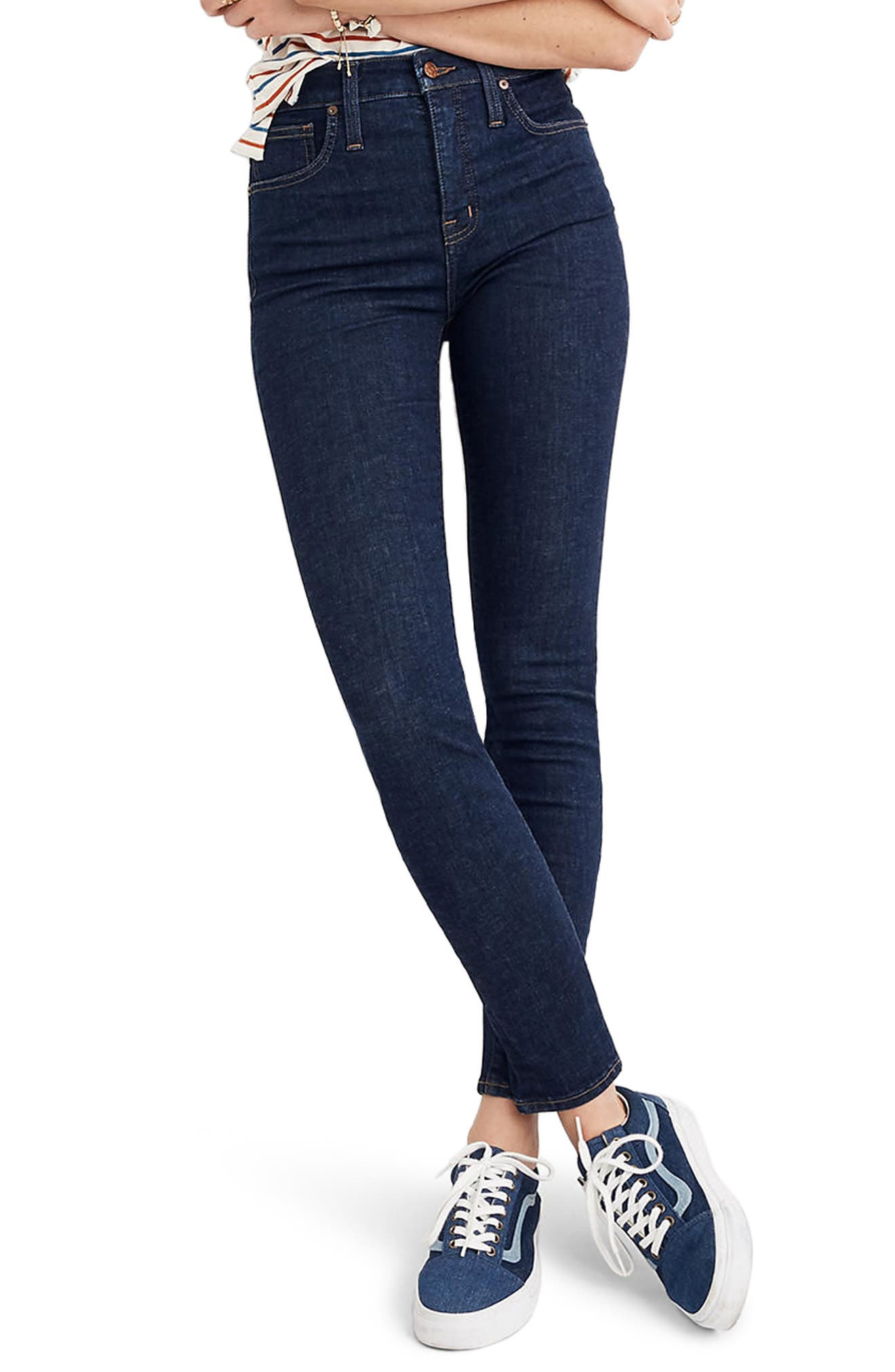 Curvy High Waist Skinny Jeans,                             Main thumbnail 1, color,                             LUCILLE WASH