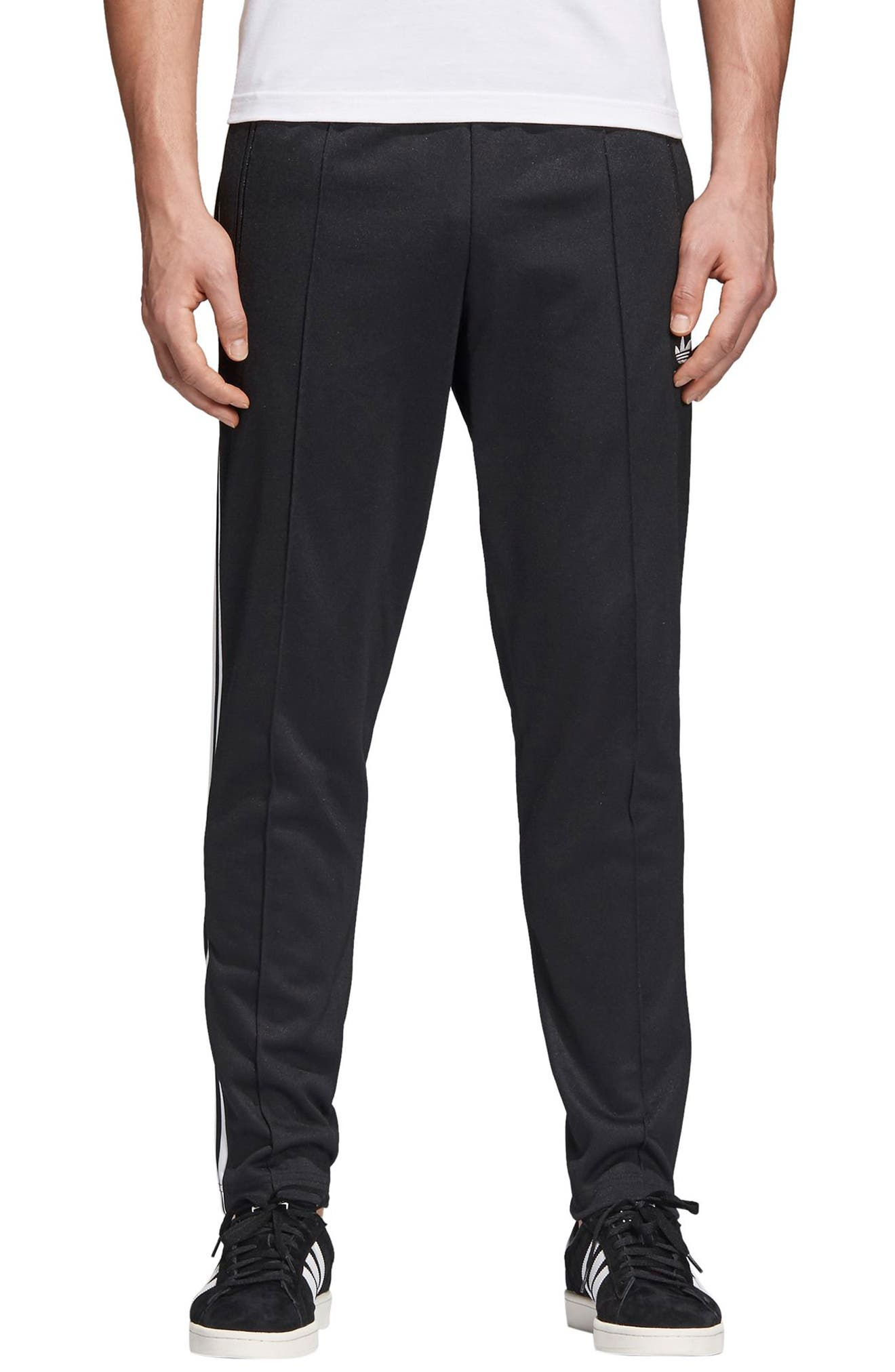 Beckenbauer Track Pants,                         Main,                         color, BLACK/ WHITE