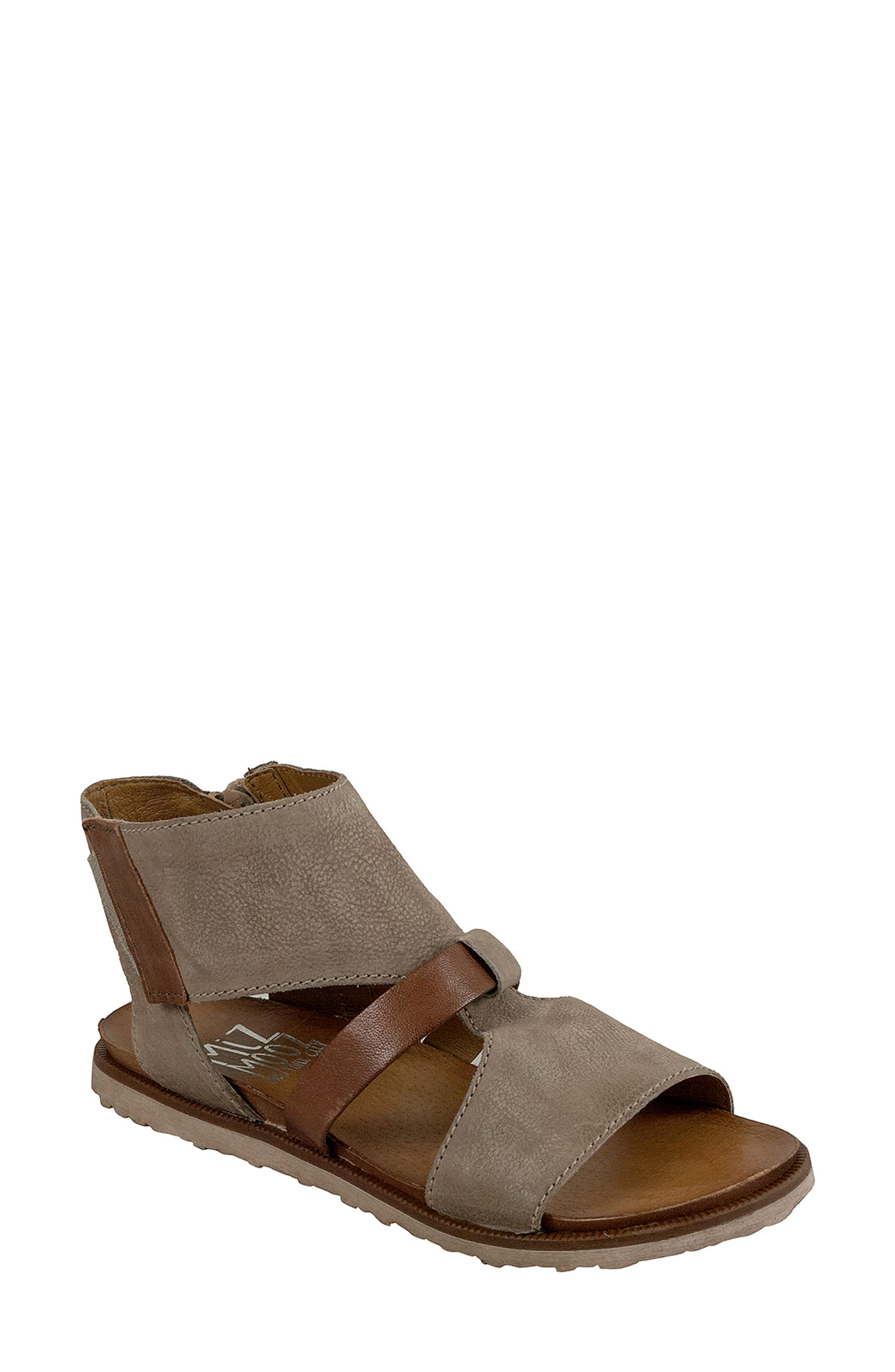 'Tamsyn' Sandal,                         Main,                         color, PEBBLE LEATHER