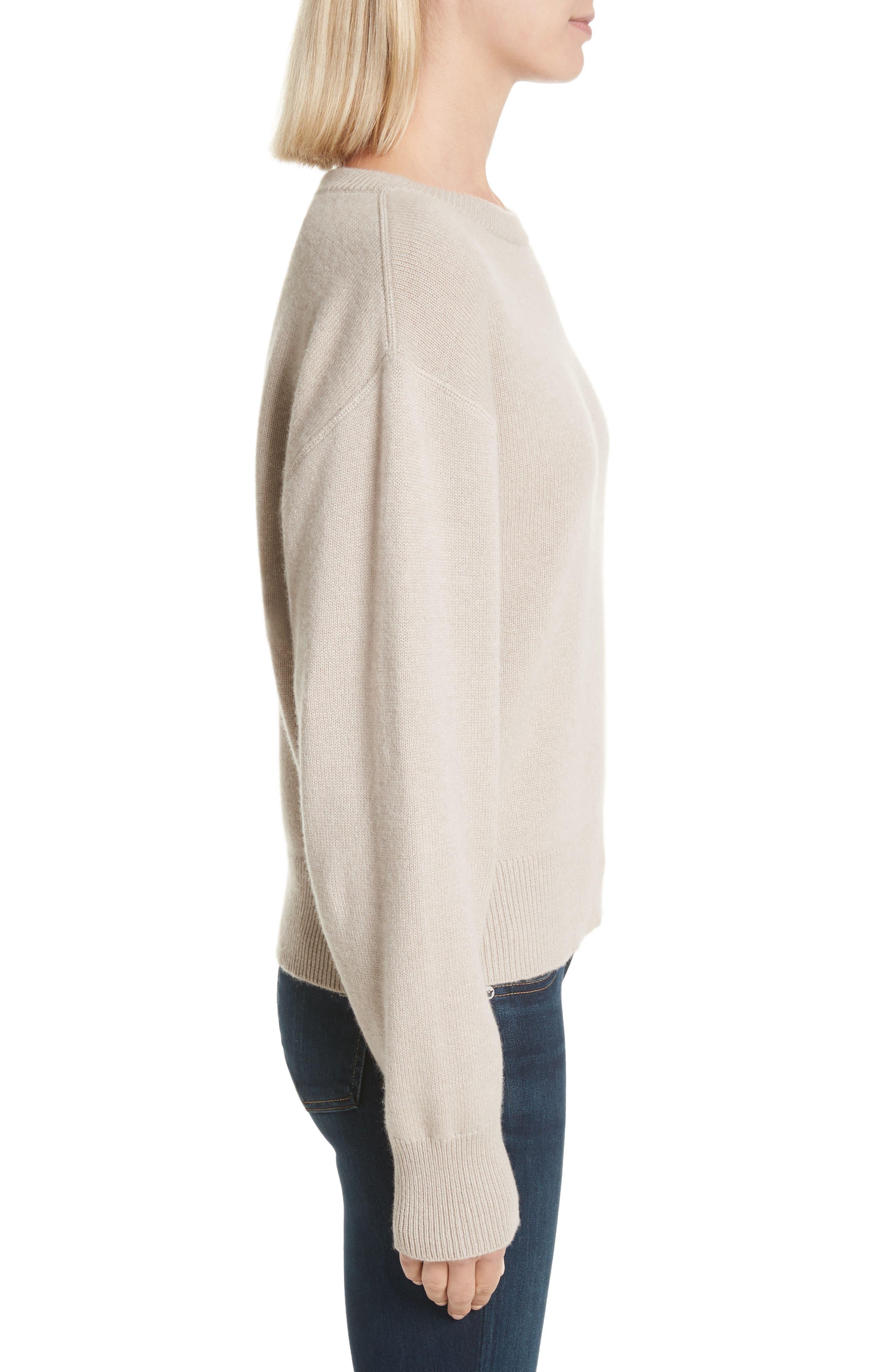 Sutton Cashmere Sweater,                             Alternate thumbnail 3, color,