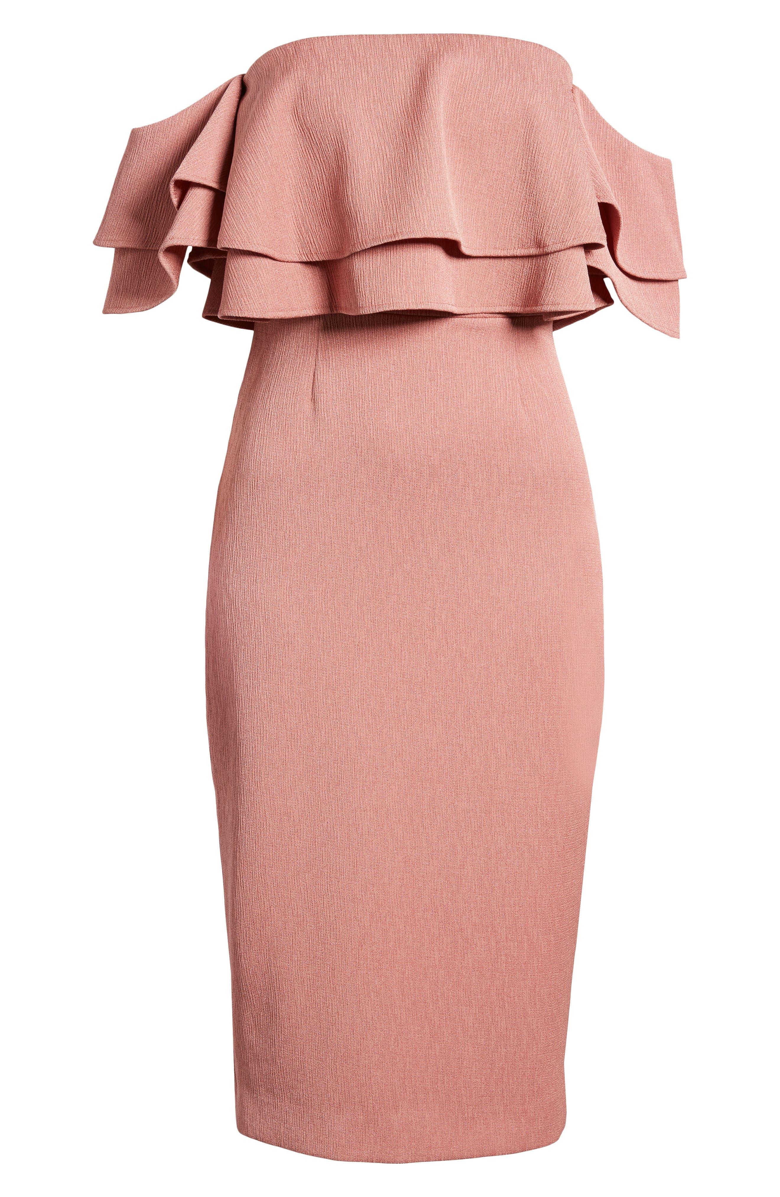 No Reason Off the Shoulder Sheath Dress,                             Alternate thumbnail 6, color,                             650