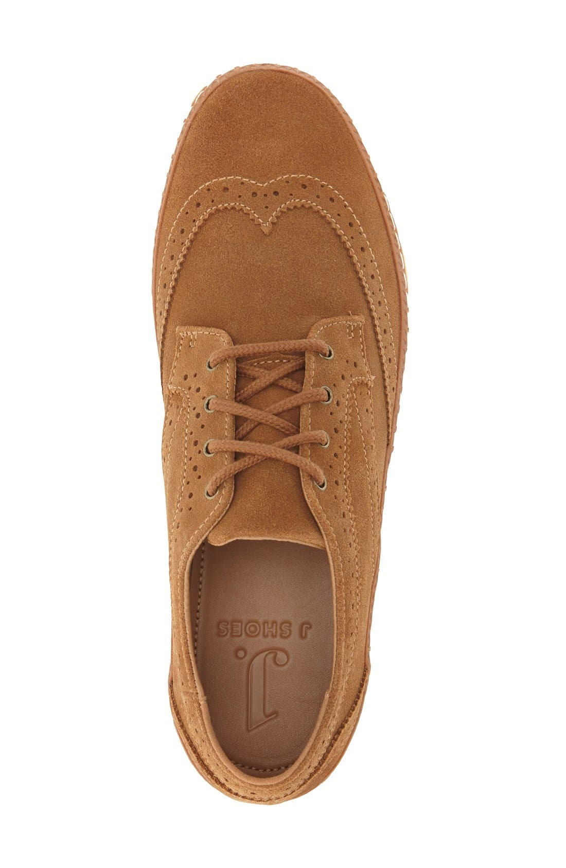 'Novello' Wingtip Sneaker,                             Alternate thumbnail 6, color,