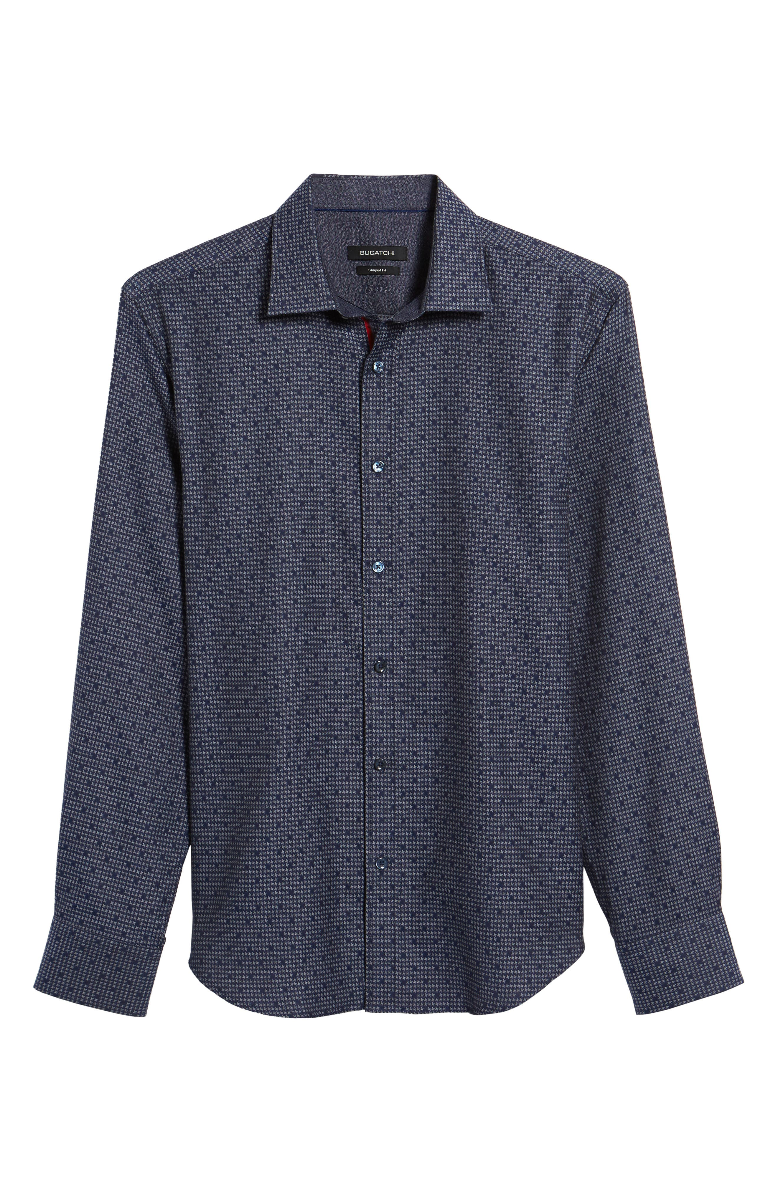 Trim Fit Dot Houndstooth Sport Shirt,                             Alternate thumbnail 6, color,                             411