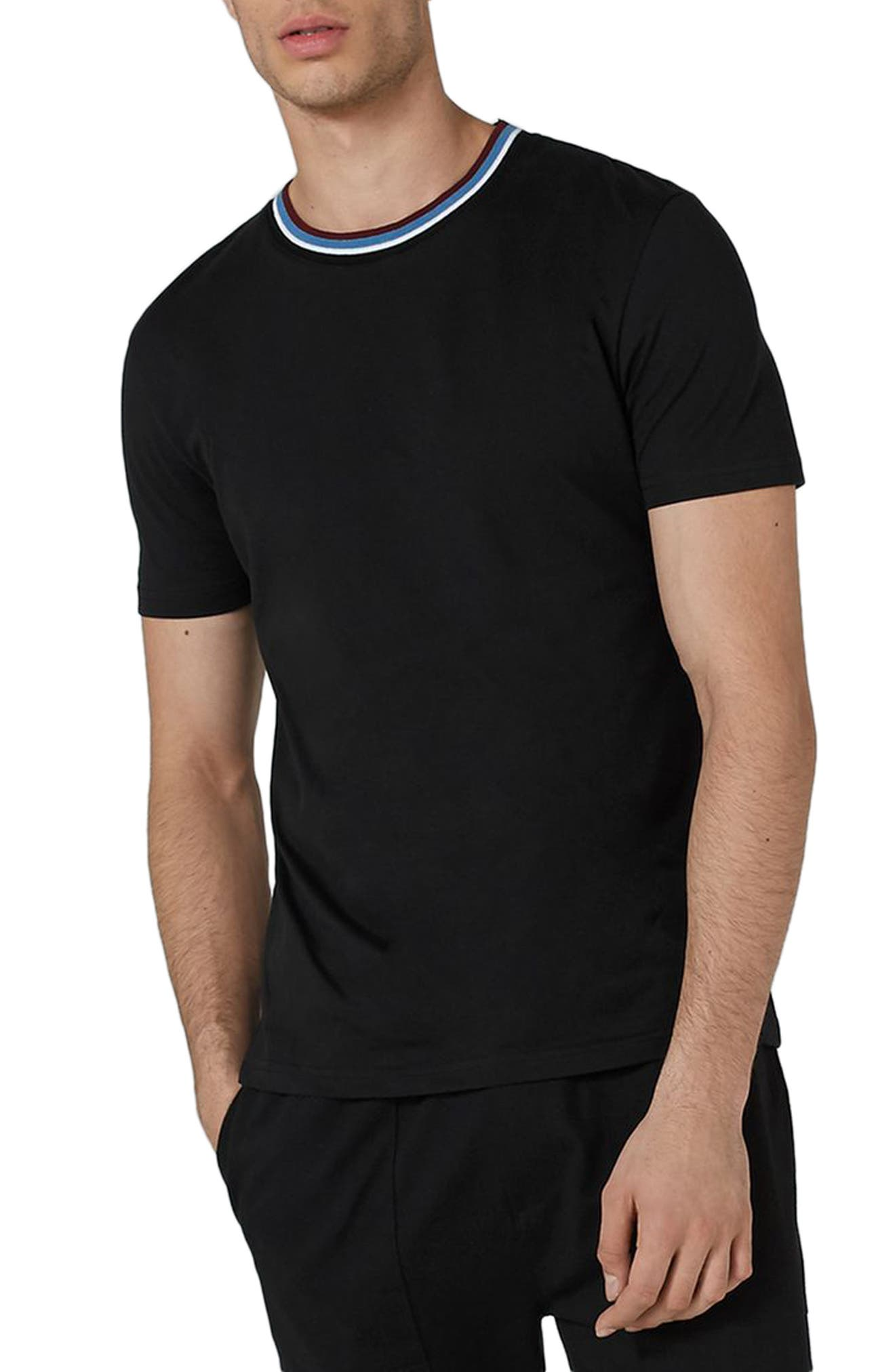 Stripe Tipped Ringer T-Shirt,                             Main thumbnail 1, color,
