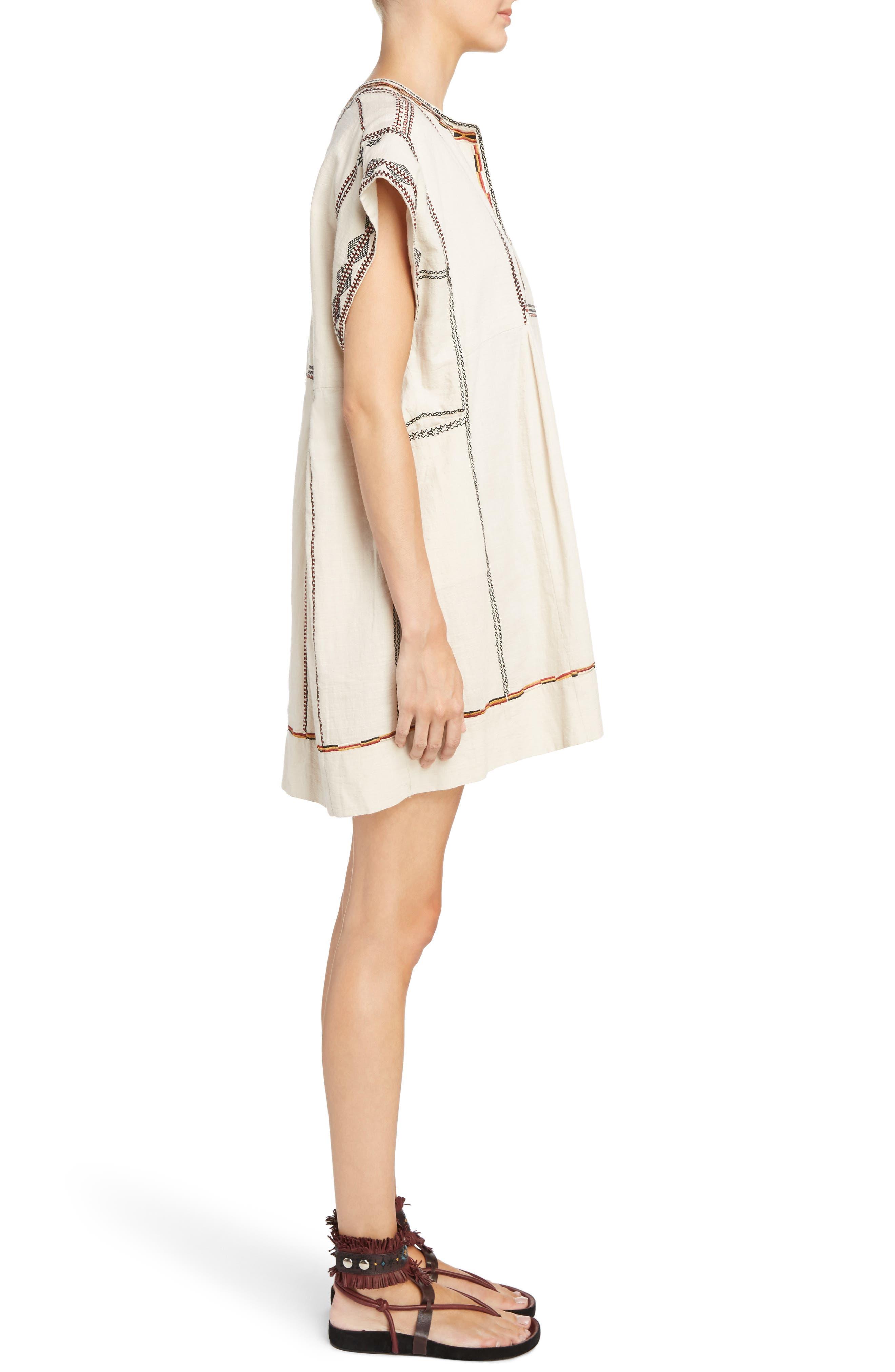 Belissa Embroidered Shift Dress,                             Alternate thumbnail 3, color,                             250