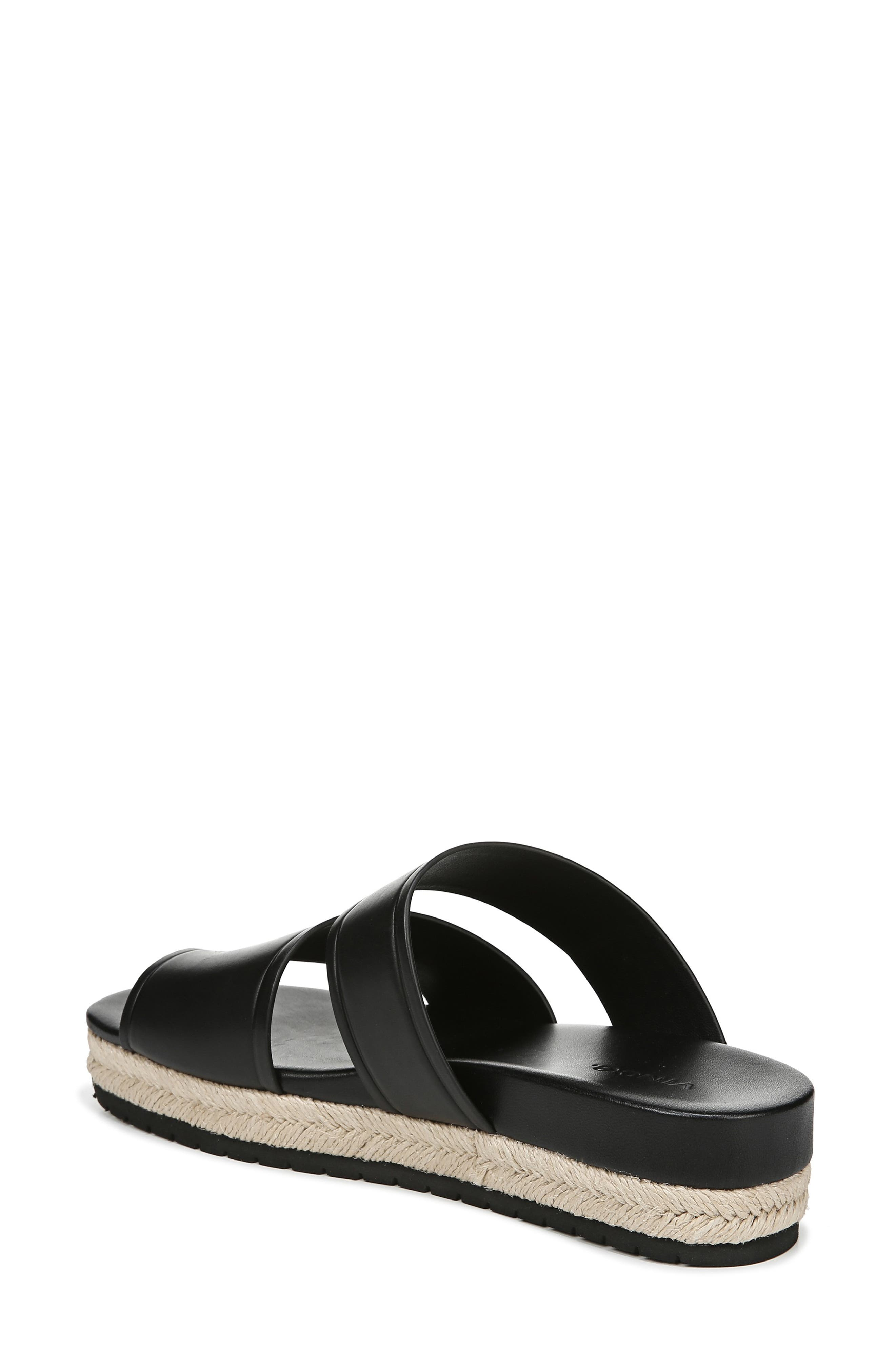 VINCE,                             Floyd Platform Slide Sandal,                             Alternate thumbnail 2, color,                             BLACK