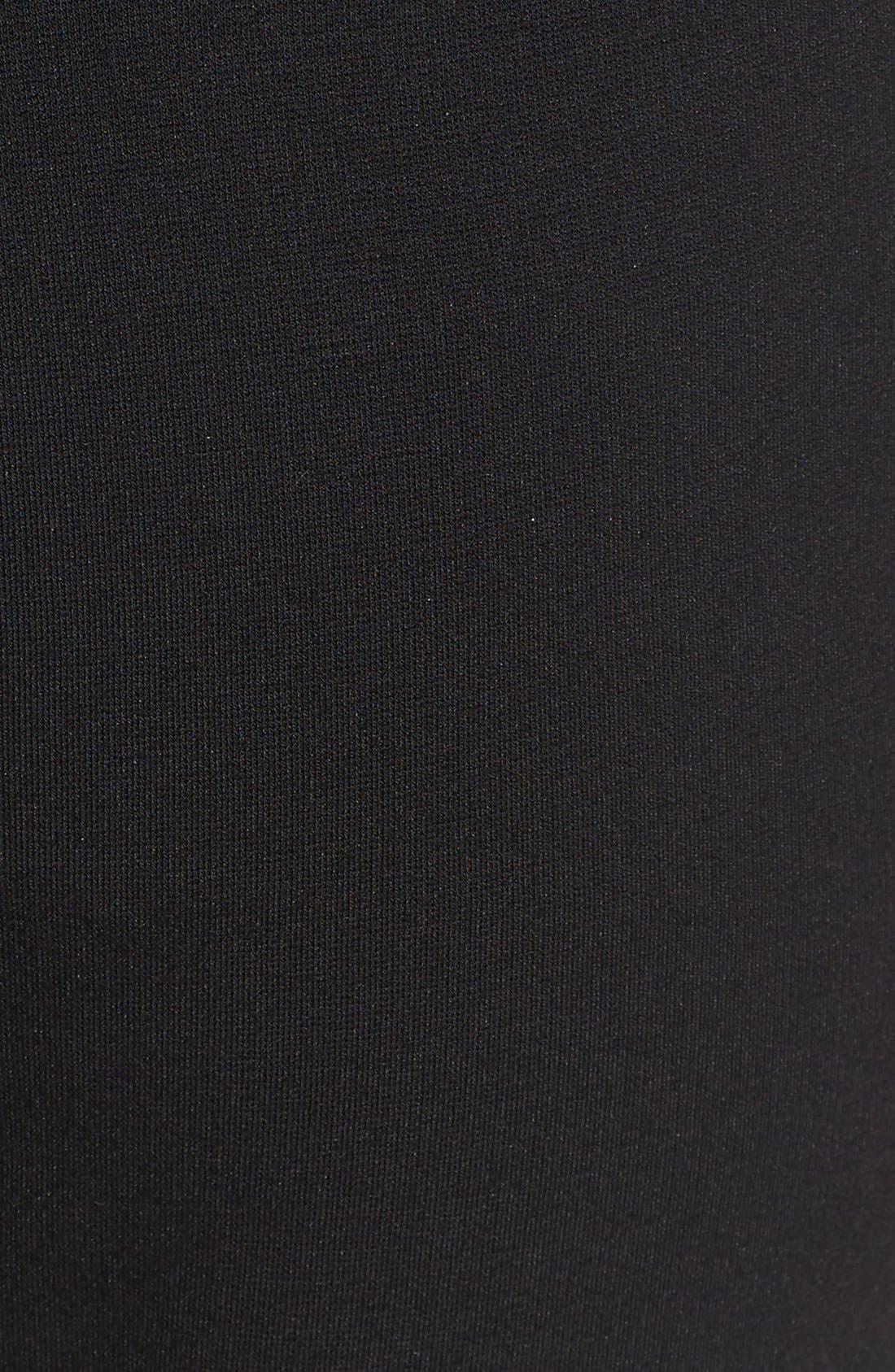 Ponte Ankle Pants,                             Alternate thumbnail 3, color,                             BLACK