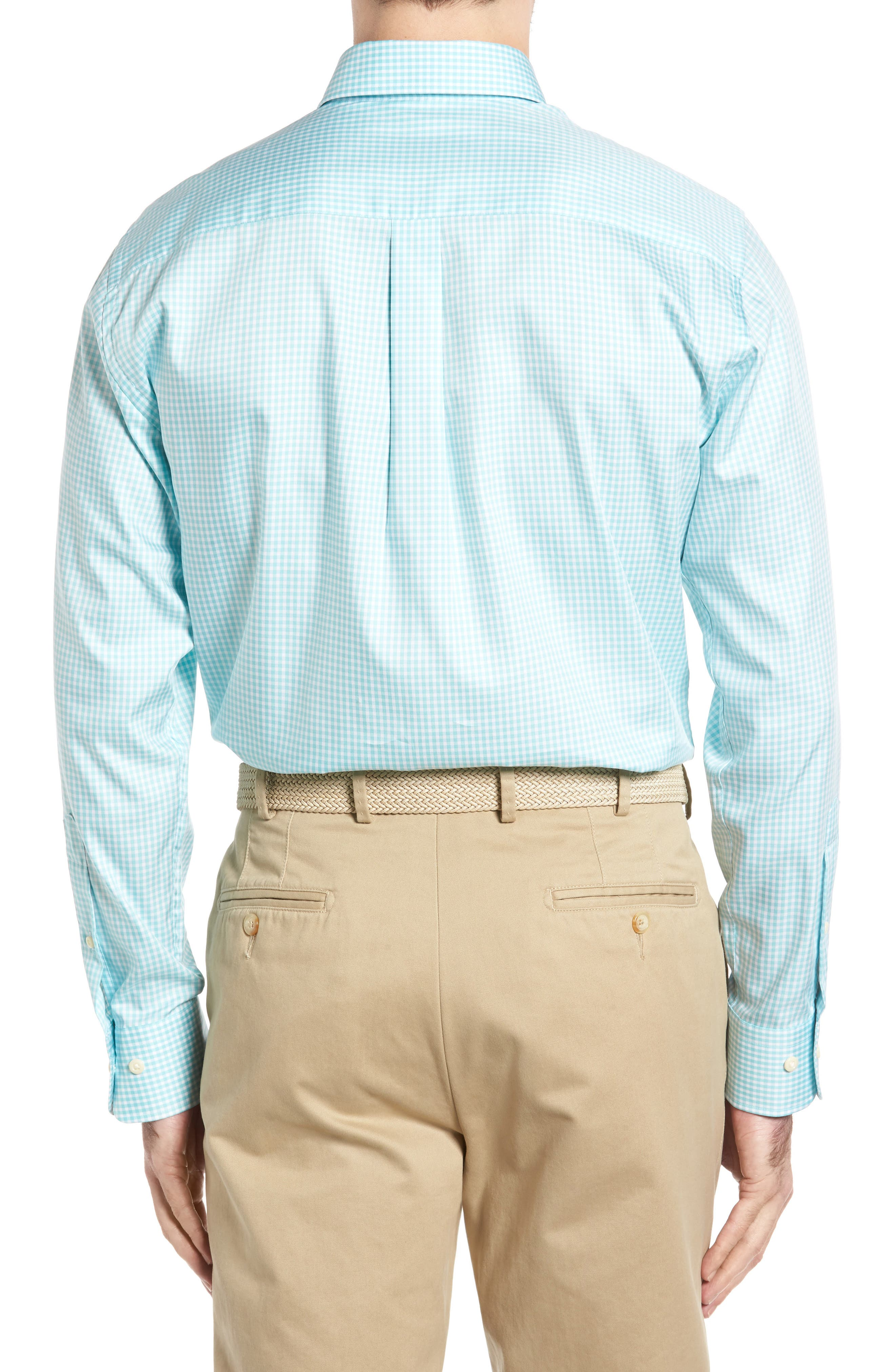Crown Soft Gingham Regular Fit Sport Shirt,                             Alternate thumbnail 10, color,