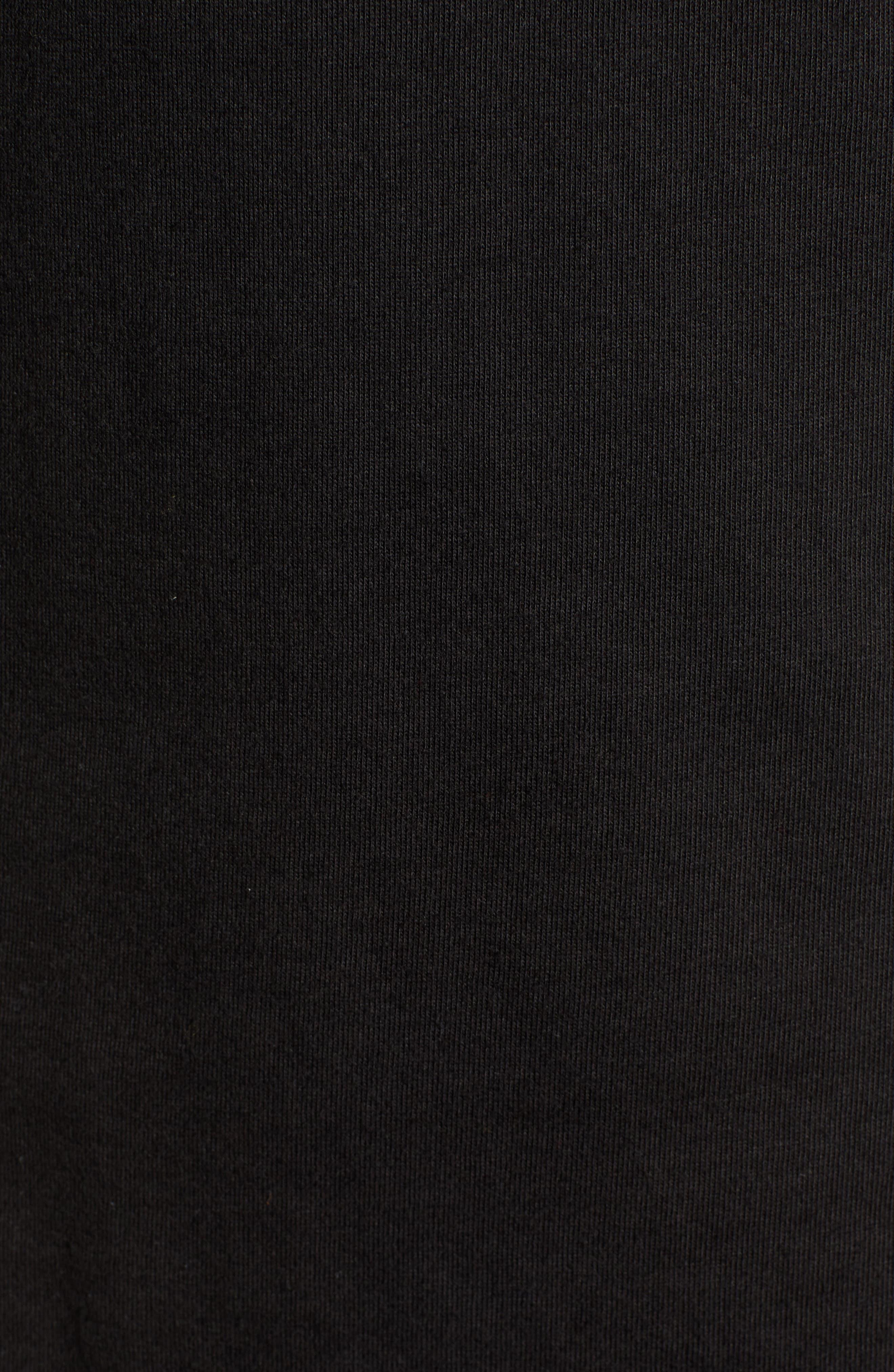 Longline Unisex T-Shirt,                             Alternate thumbnail 5, color,                             BLACK