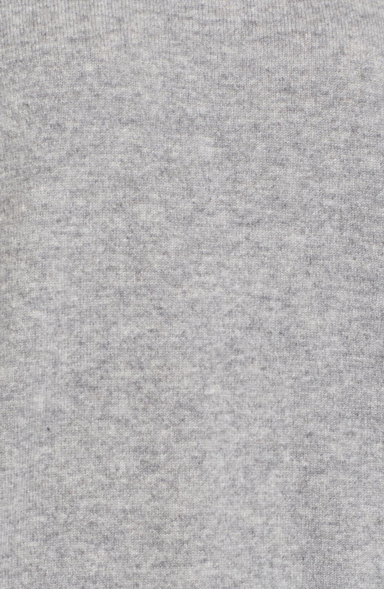 Colorblock Cashmere Sweater,                             Alternate thumbnail 5, color,                             HEATHER GREY