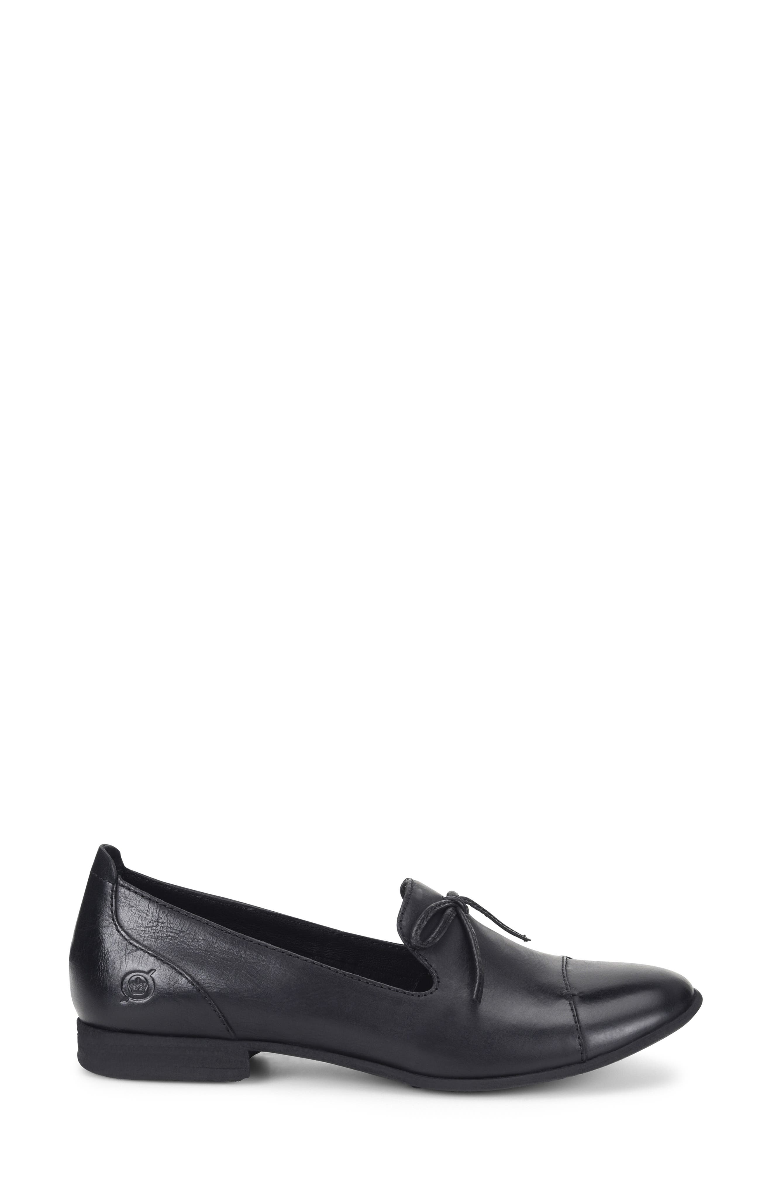 Gallatin Loafer,                             Alternate thumbnail 3, color,                             BLACK LEATHER