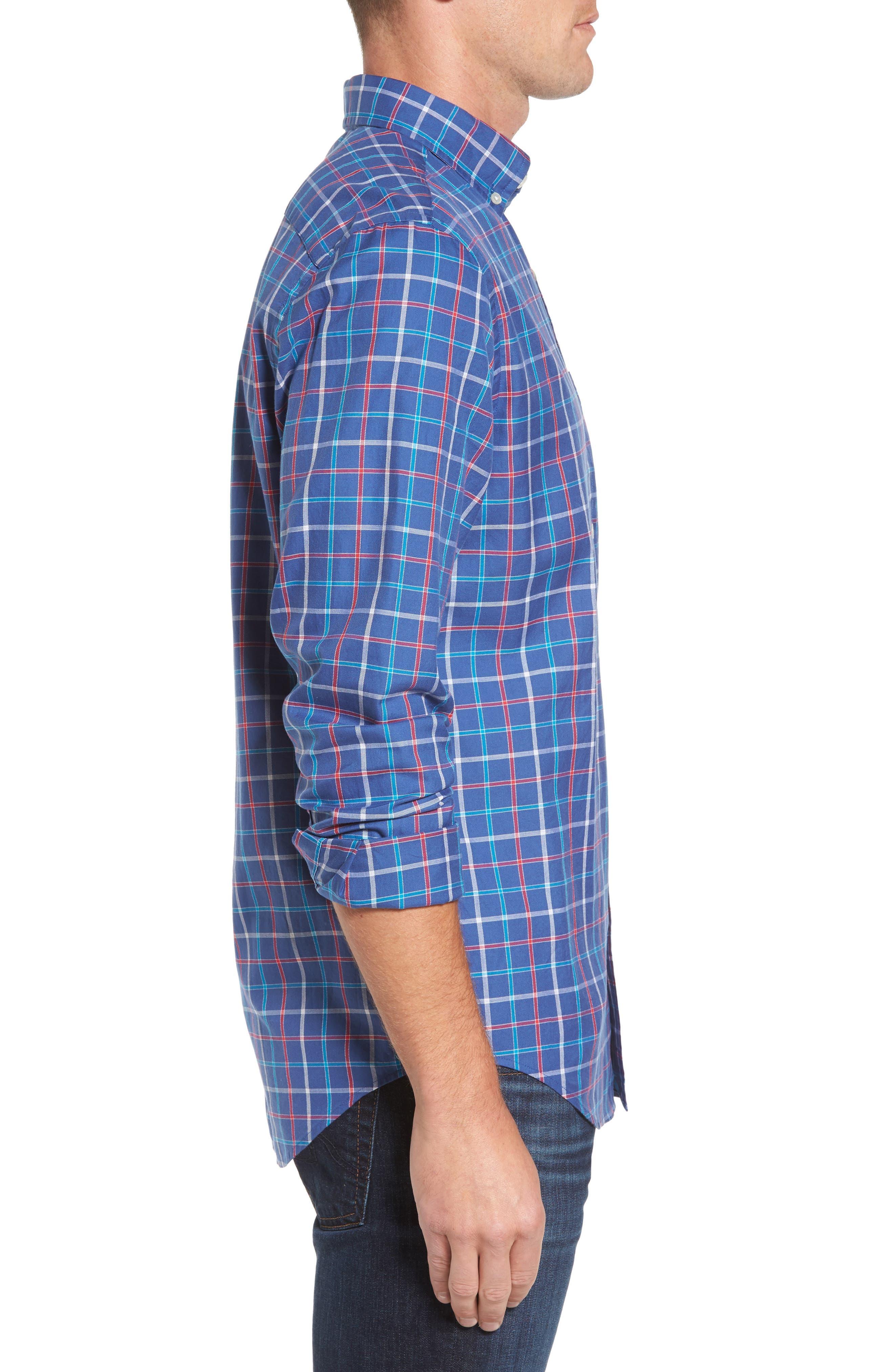 Classic Fit Murray Jade Cove Check Sport Shirt,                             Alternate thumbnail 3, color,