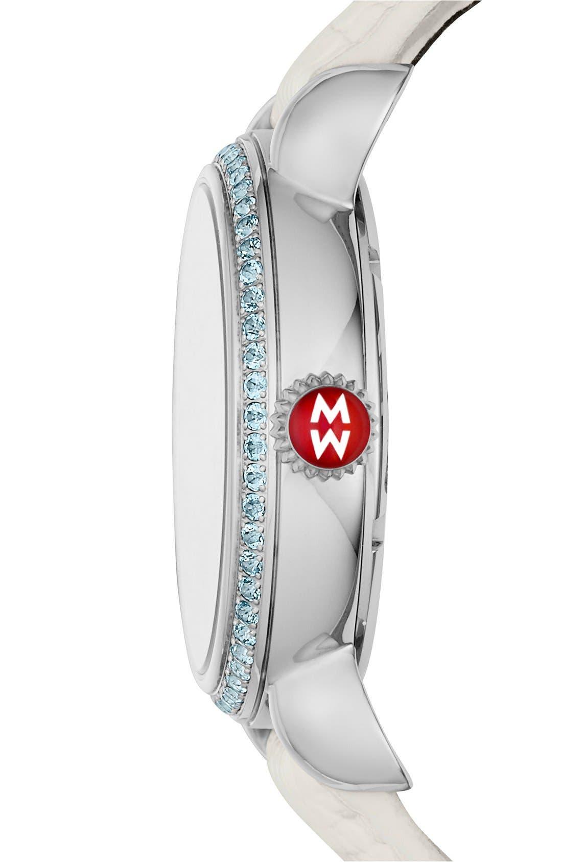 Seaside Topaz Diamond Watch, 36mm,                             Alternate thumbnail 2, color,                             100