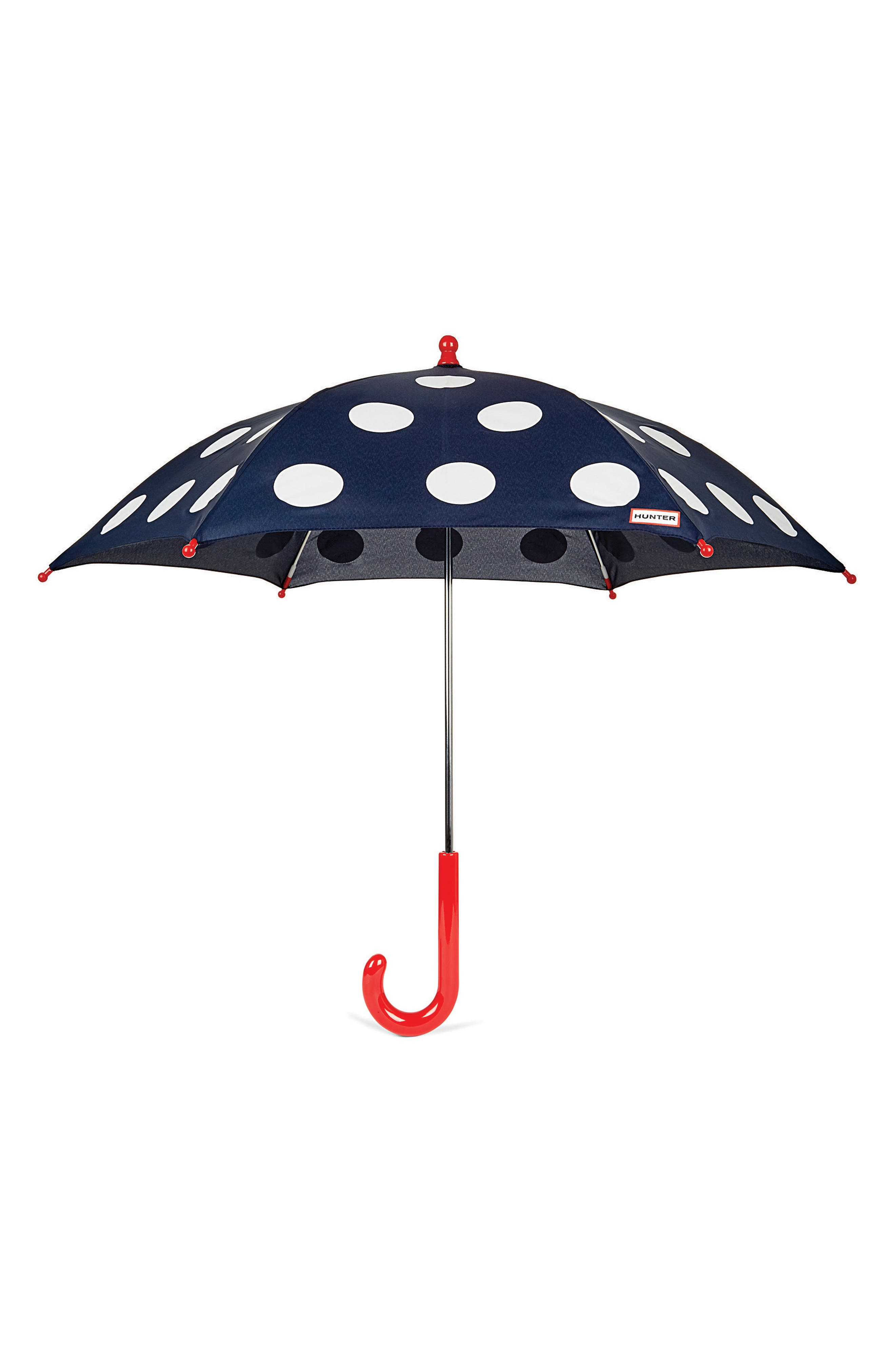 Polka Dot Surprise Umbrella,                             Main thumbnail 1, color,                             LADYBIRD PRINT