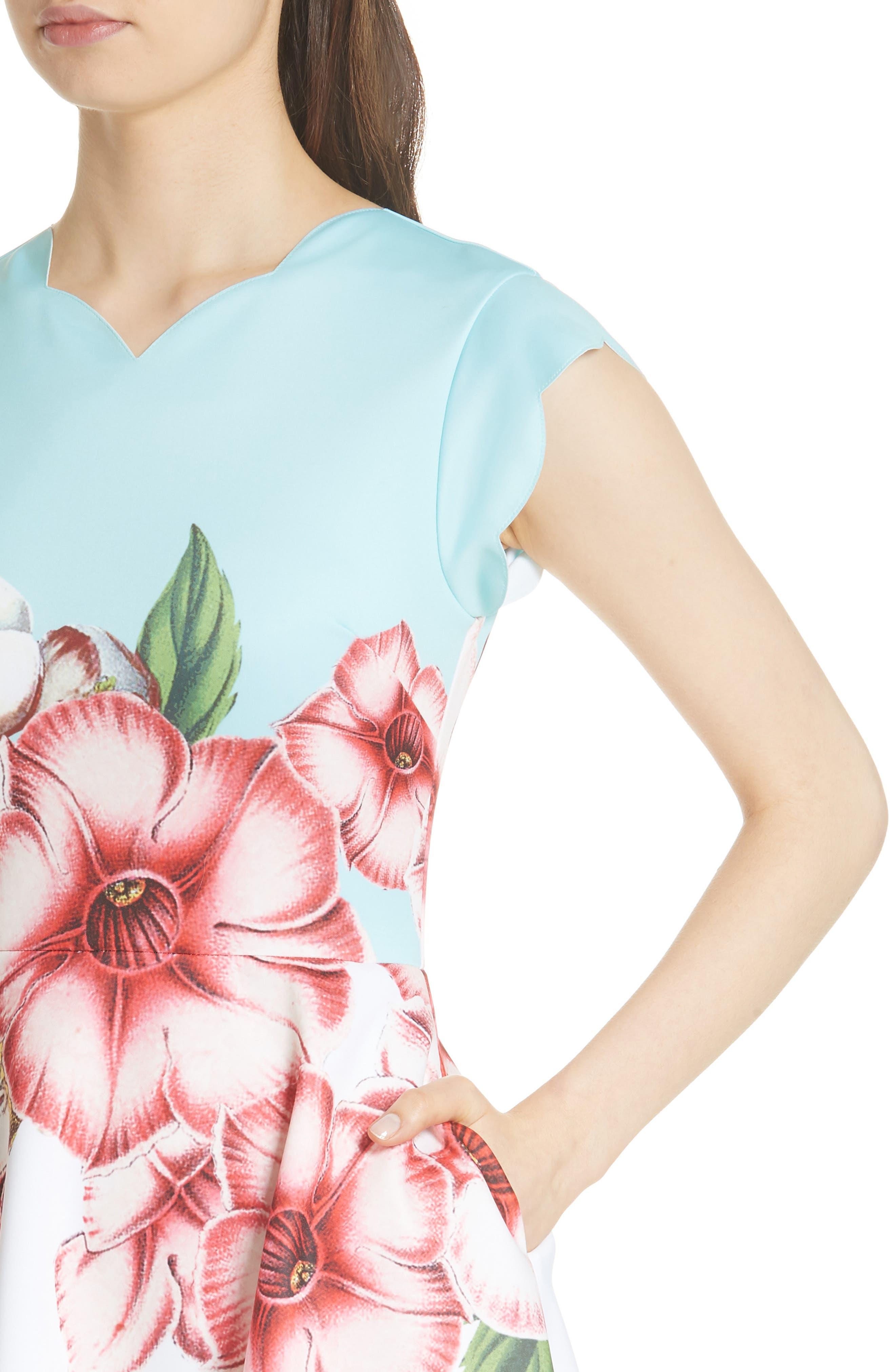 Maevea Nectar Skater Dress,                             Alternate thumbnail 4, color,                             132