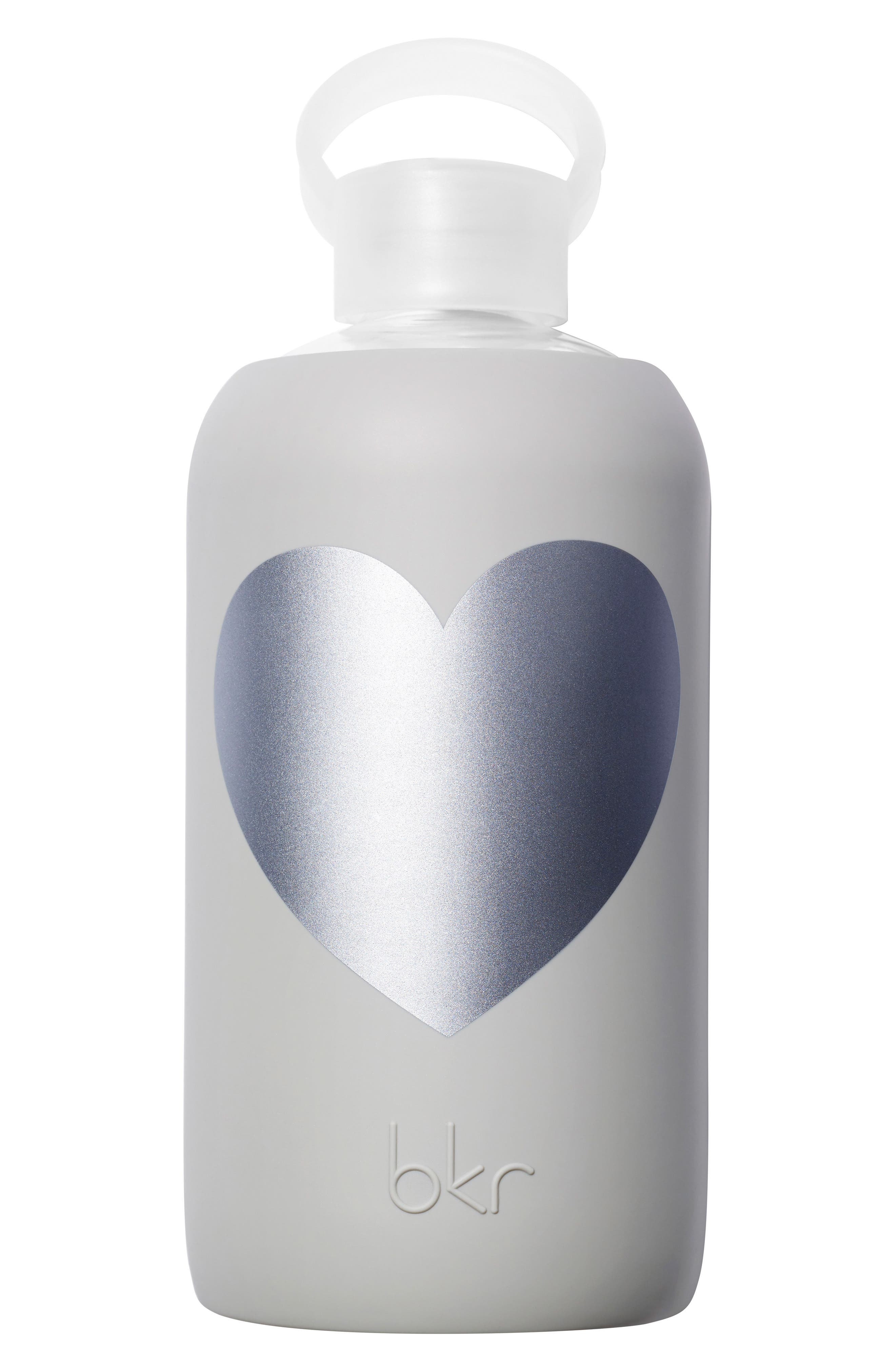 Heart 32-Ounce Glass Water Bottle,                             Main thumbnail 1, color,                             020