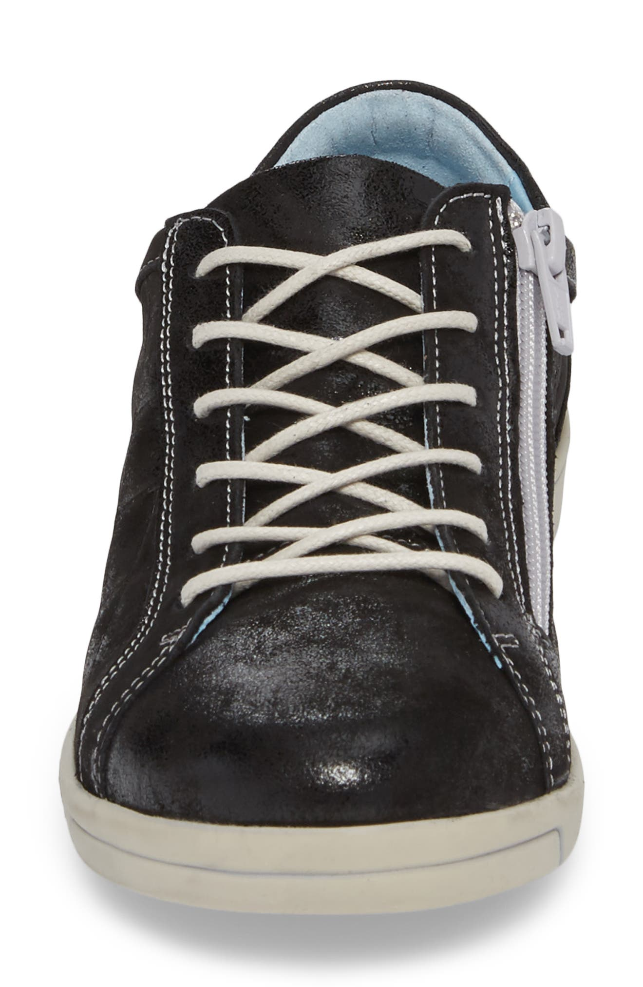 Alessia Sneaker,                             Alternate thumbnail 4, color,                             BLACK STINGER LEATHER