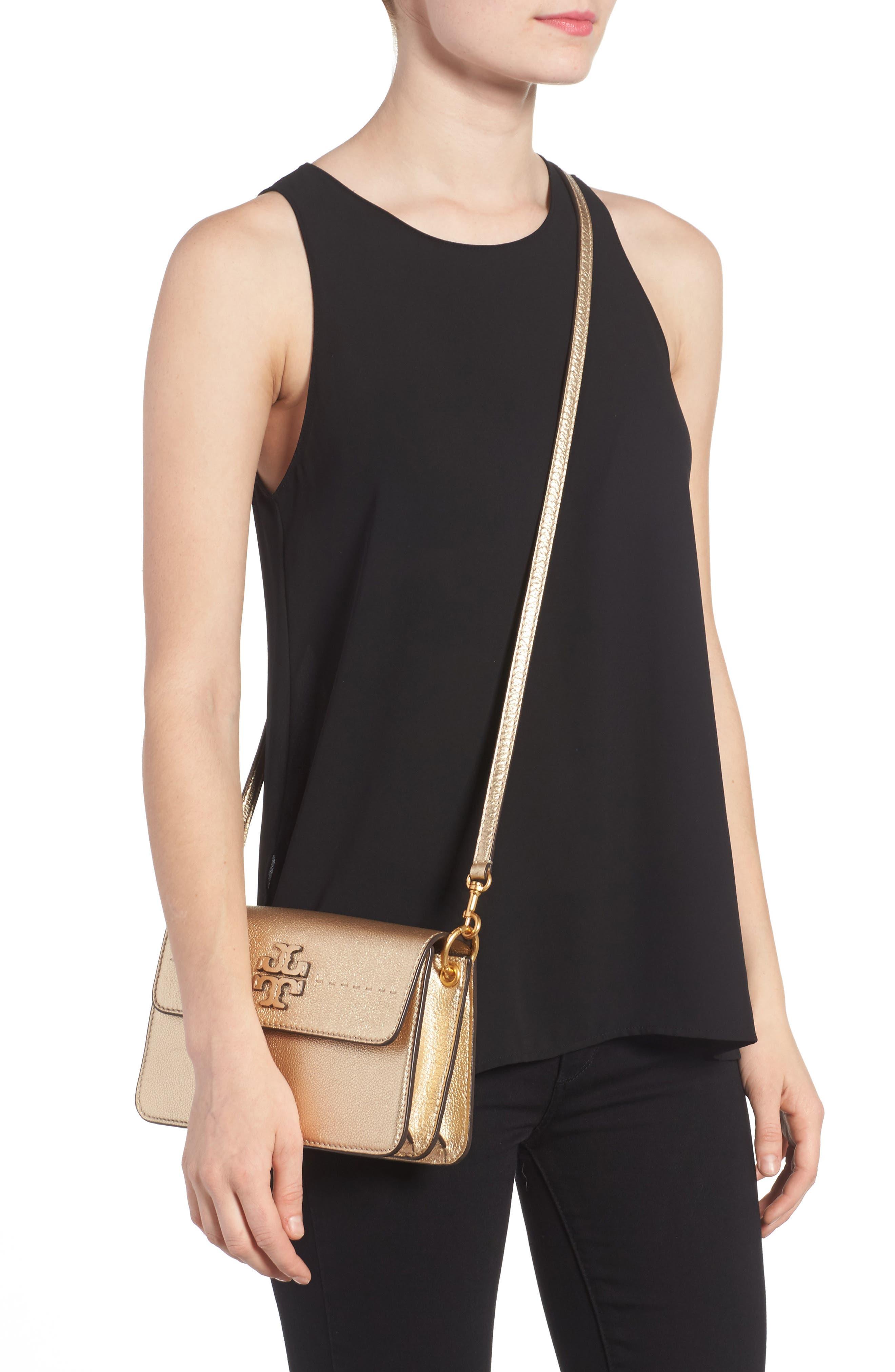 McGraw Metallic Leather Shoulder Bag,                             Alternate thumbnail 2, color,