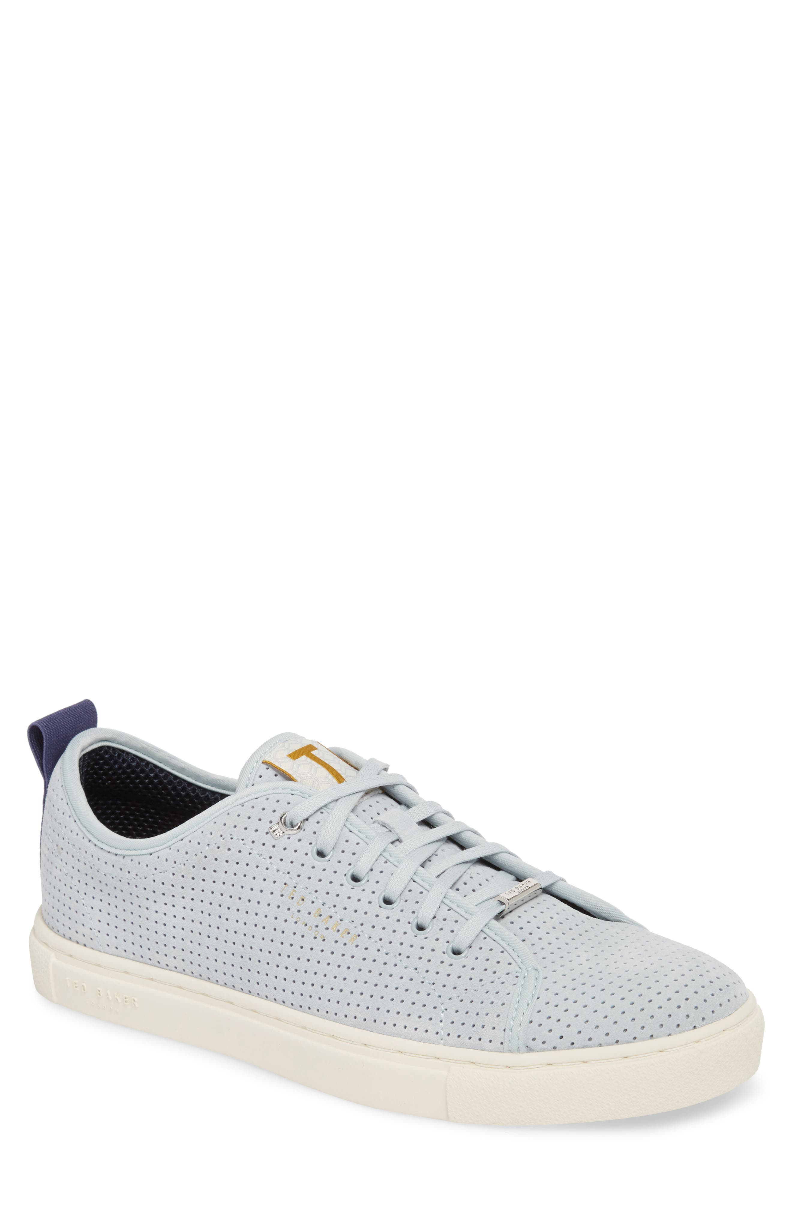 Kaliix Perforated Low Top Sneaker,                             Main thumbnail 1, color,                             LIGHT BLUE SUEDE