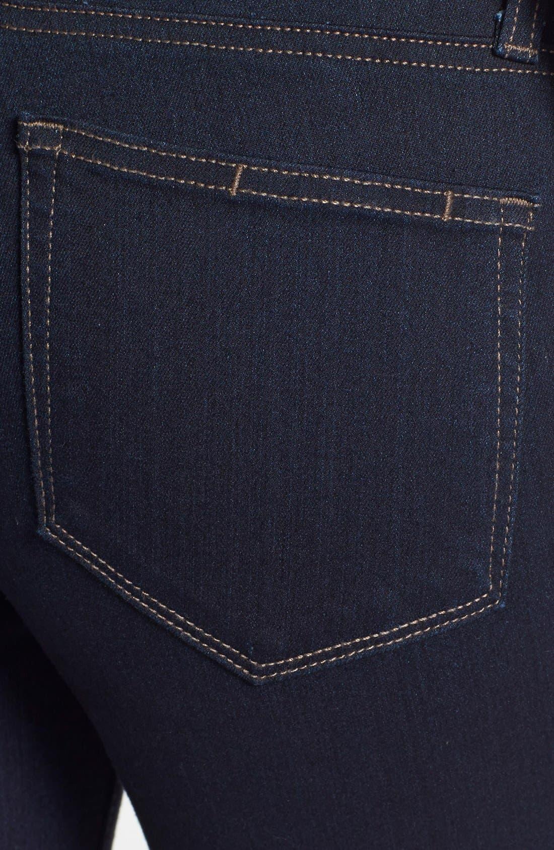 Denim 'Transcend - Hoxton' High Rise Ankle Jeans,                             Alternate thumbnail 3, color,                             001