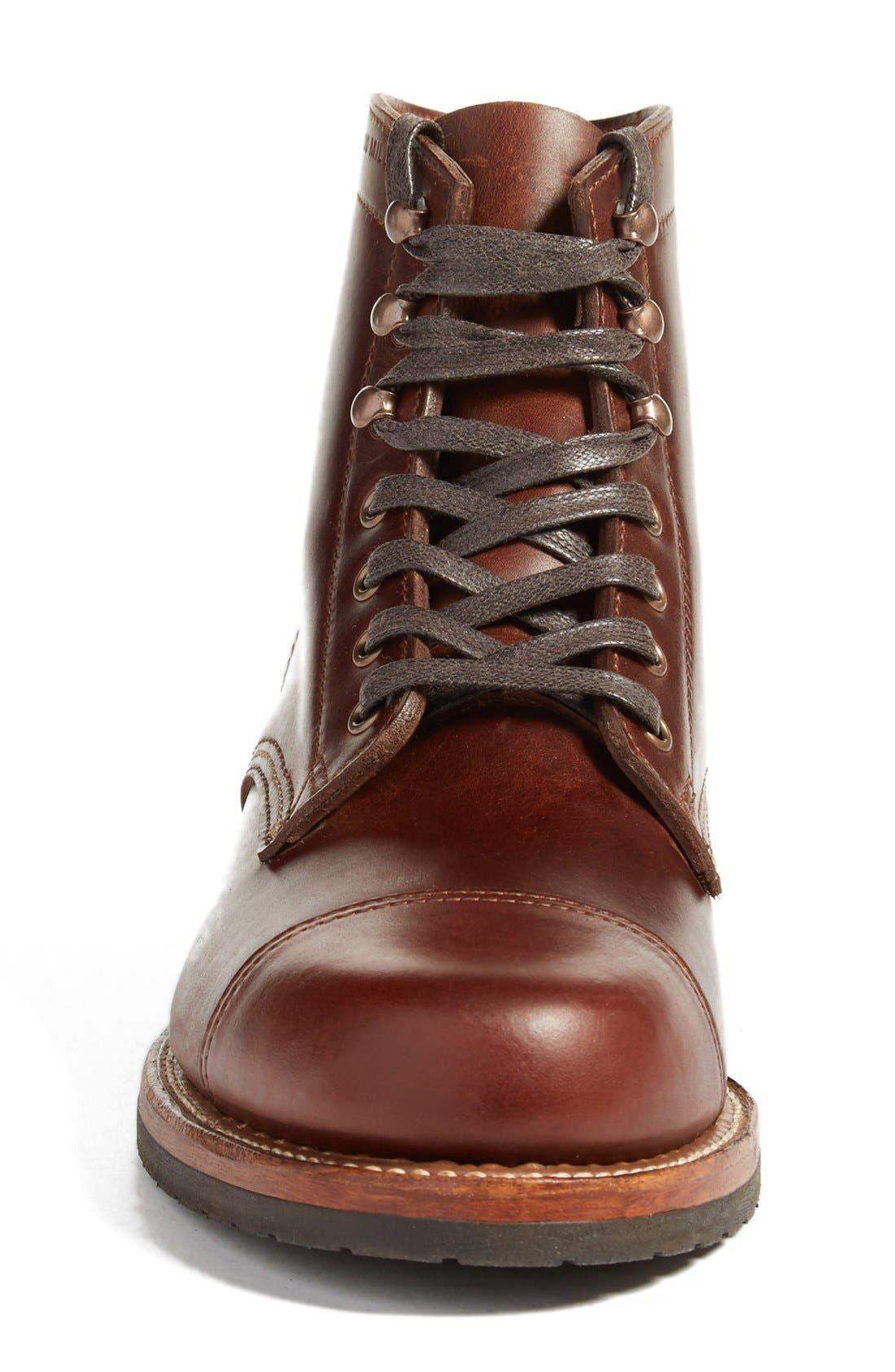 'Adrian' Cap Toe Boot,                             Alternate thumbnail 6, color,